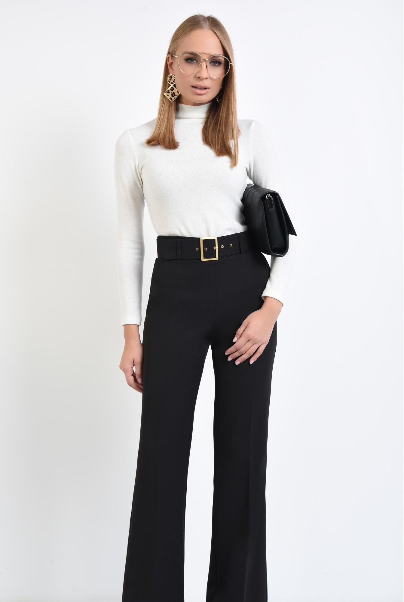 0 - pantaloni de ocazie, centura din material textil, pantaloni online