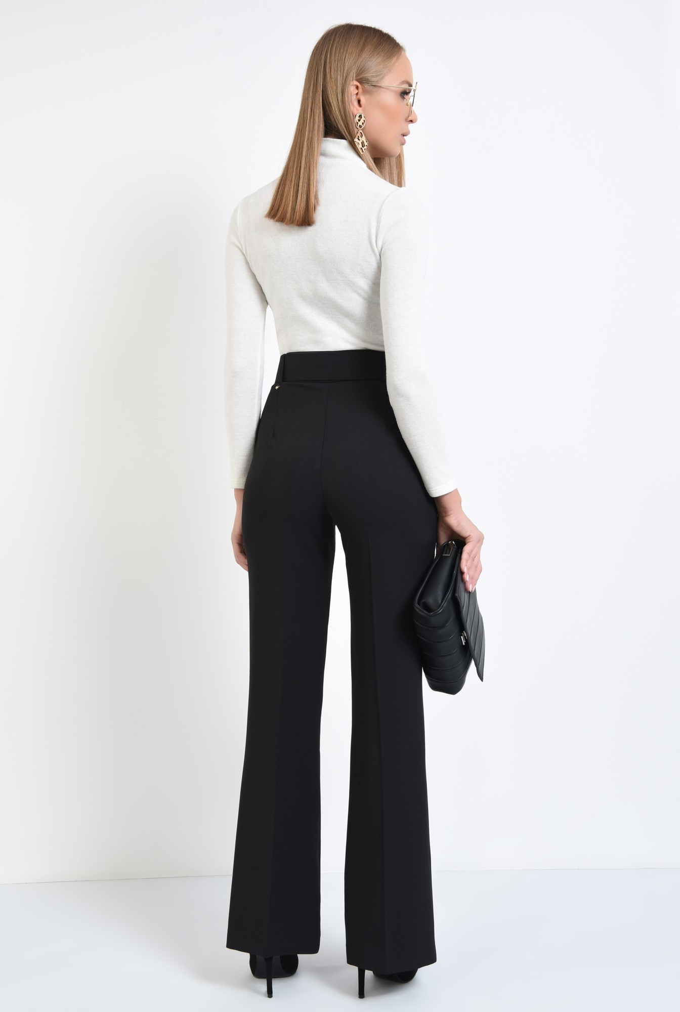 1 - pantaloni de ocazie, centura din material textil, pantaloni online