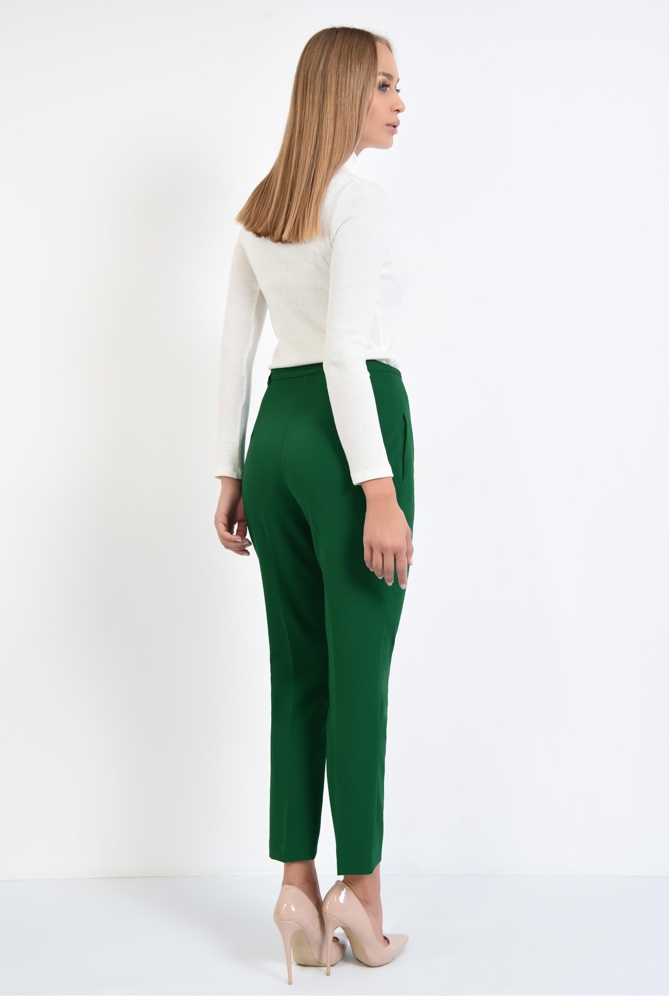 1 - pantaloni de zi, croi conic, la dunga, talie fara betelie