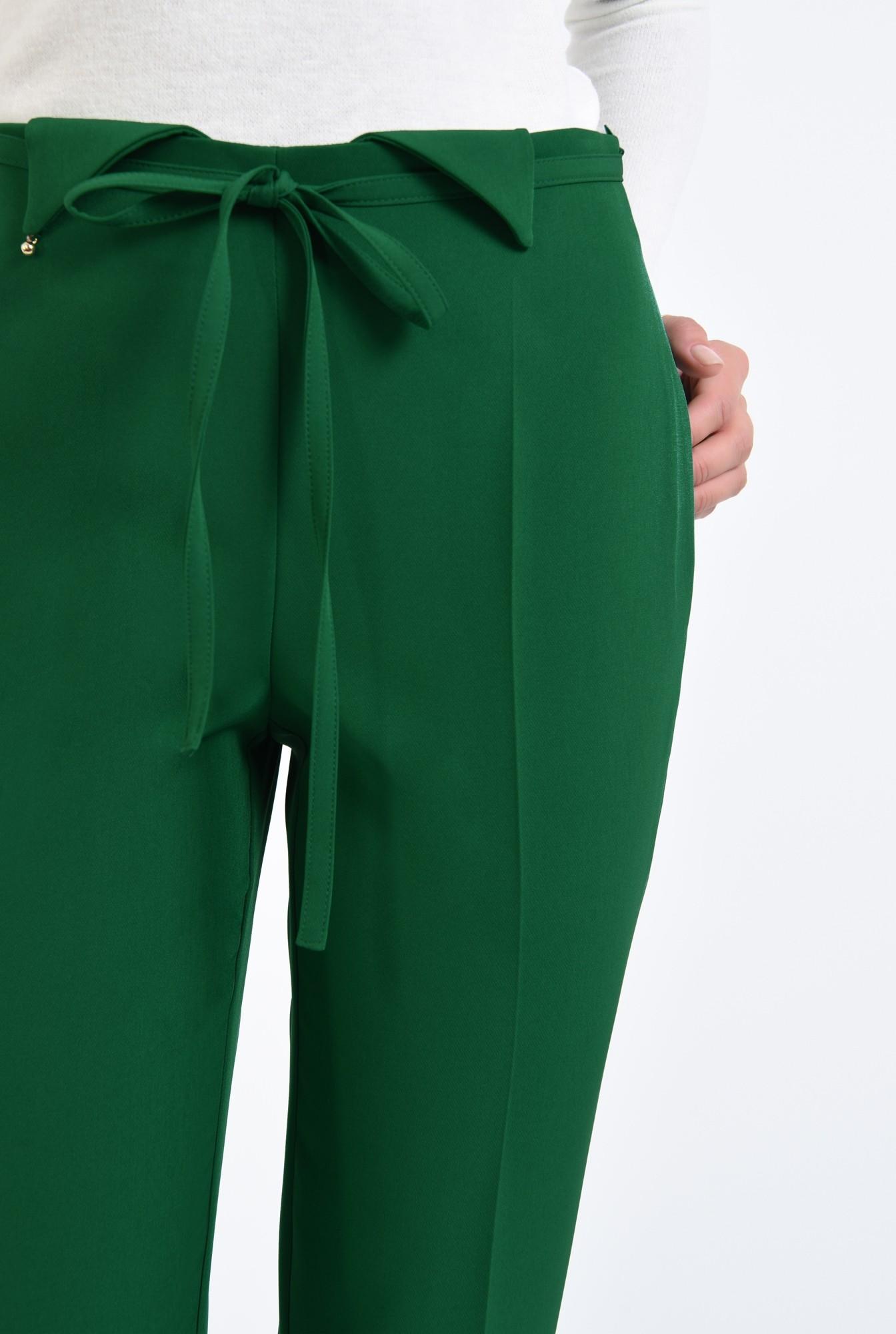 2 - pantaloni de zi, croi conic, la dunga, talie fara betelie