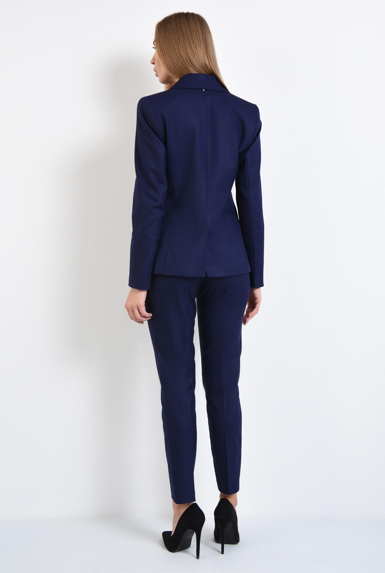1 - pantaloni tigareta, croi conic, albastru