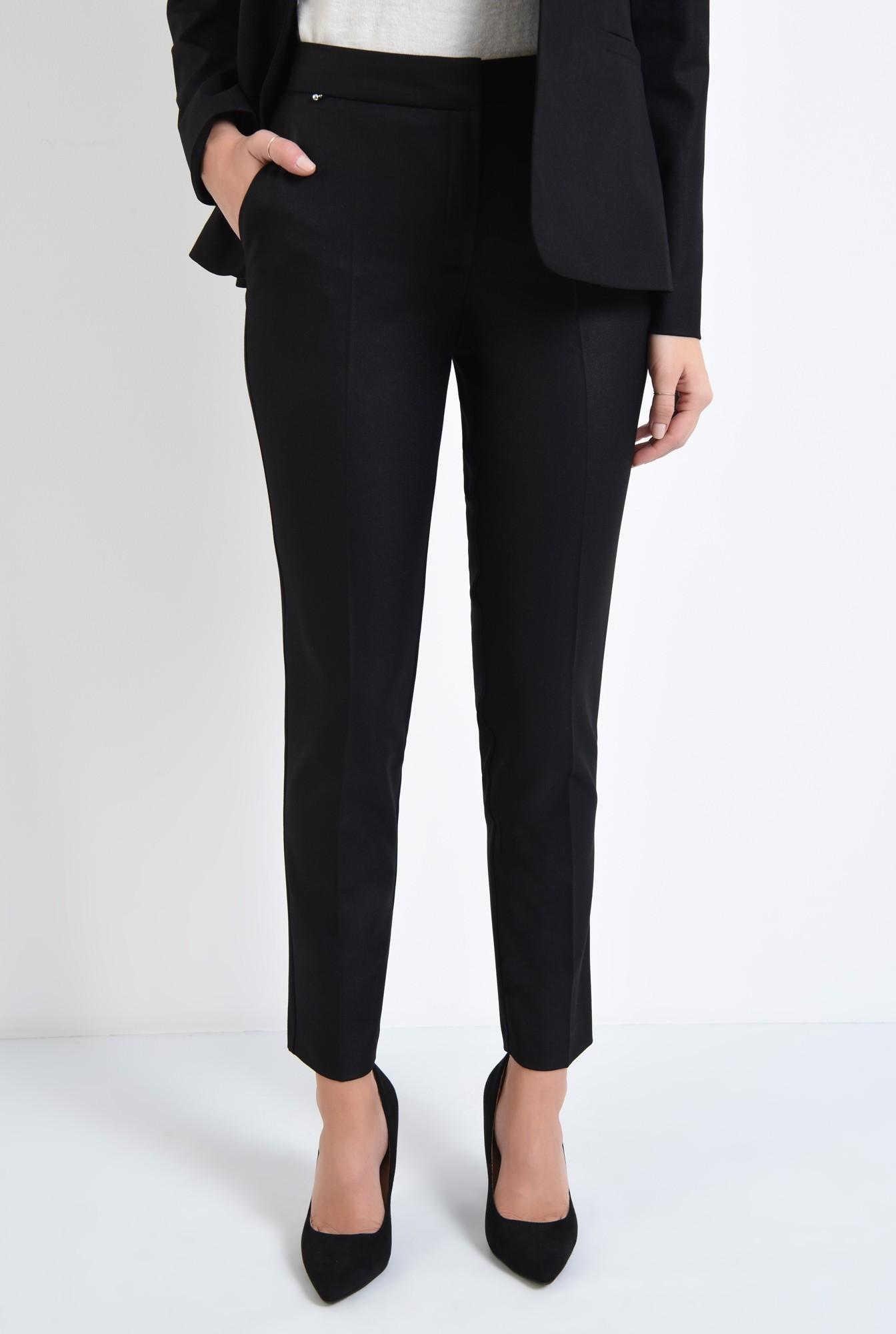 2 - pantaloni tigareta, croi conic, office
