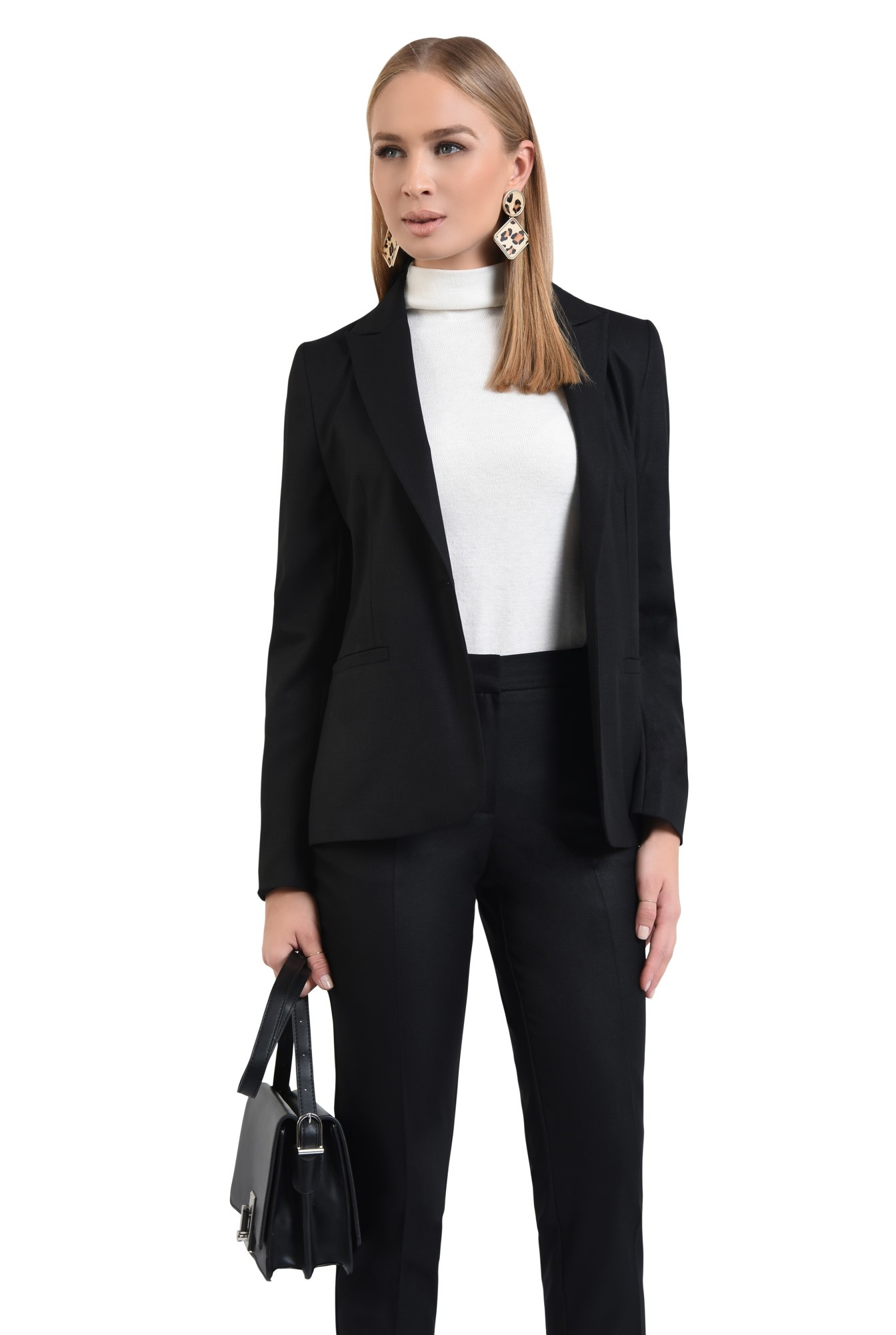 0 - pantaloni tigareta, croi conic, office