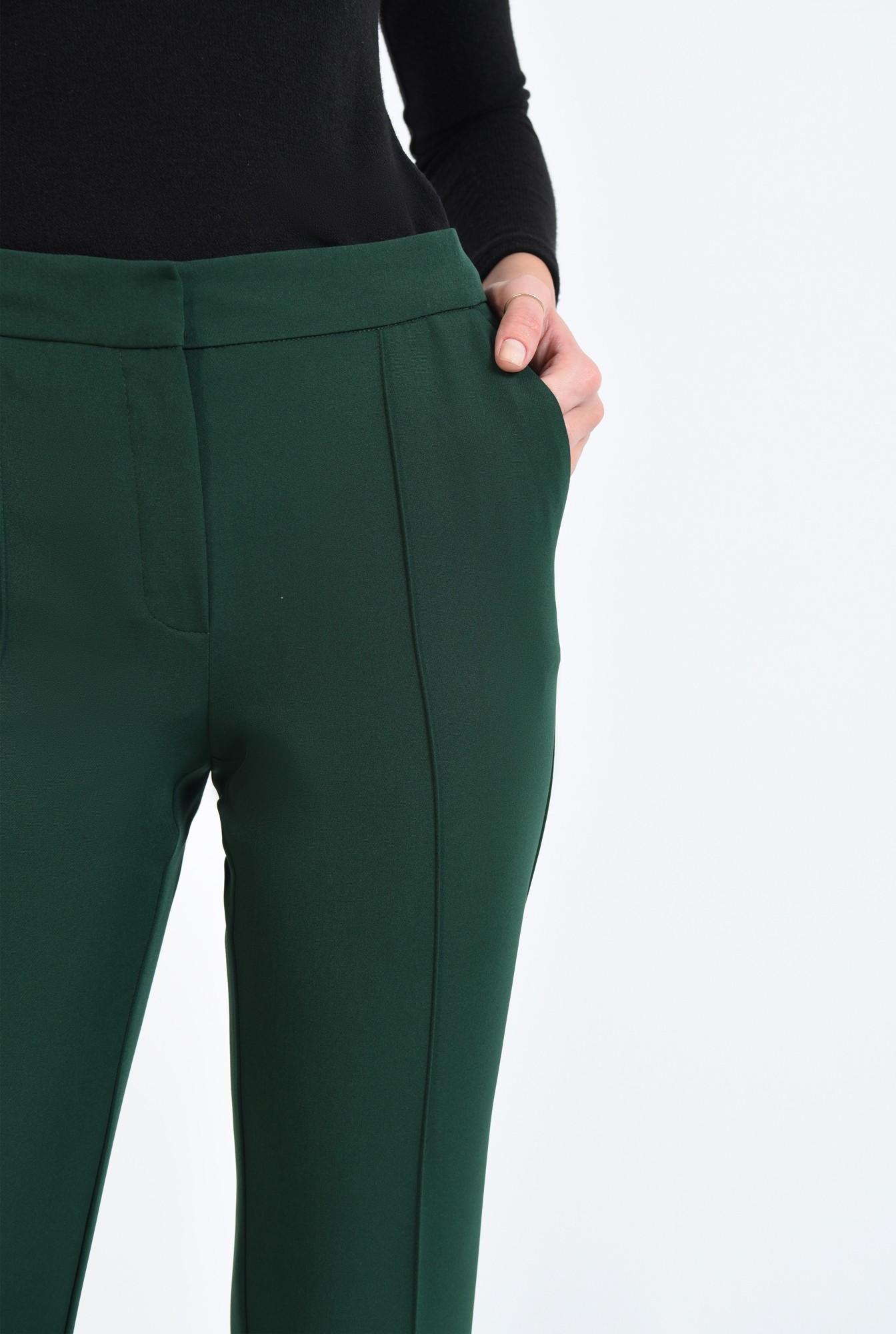 2 - 360 - pantaloni de toamna, tesatura texturata, croi pana, talie medie