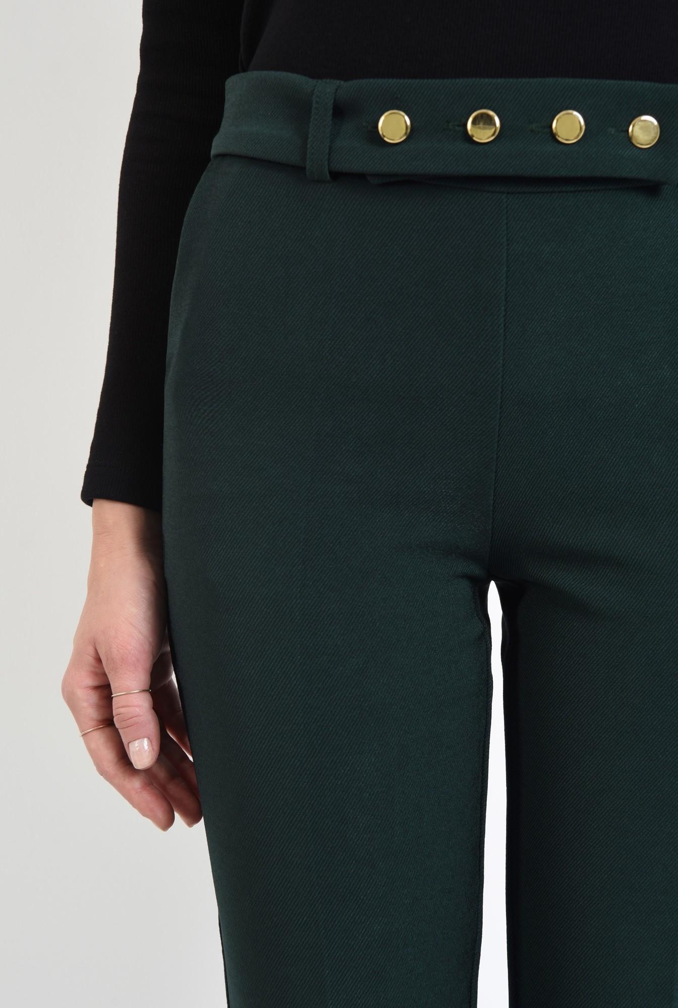 2 - pantaloni conici, stofa, croi la dunga, costum, pantaloni dama