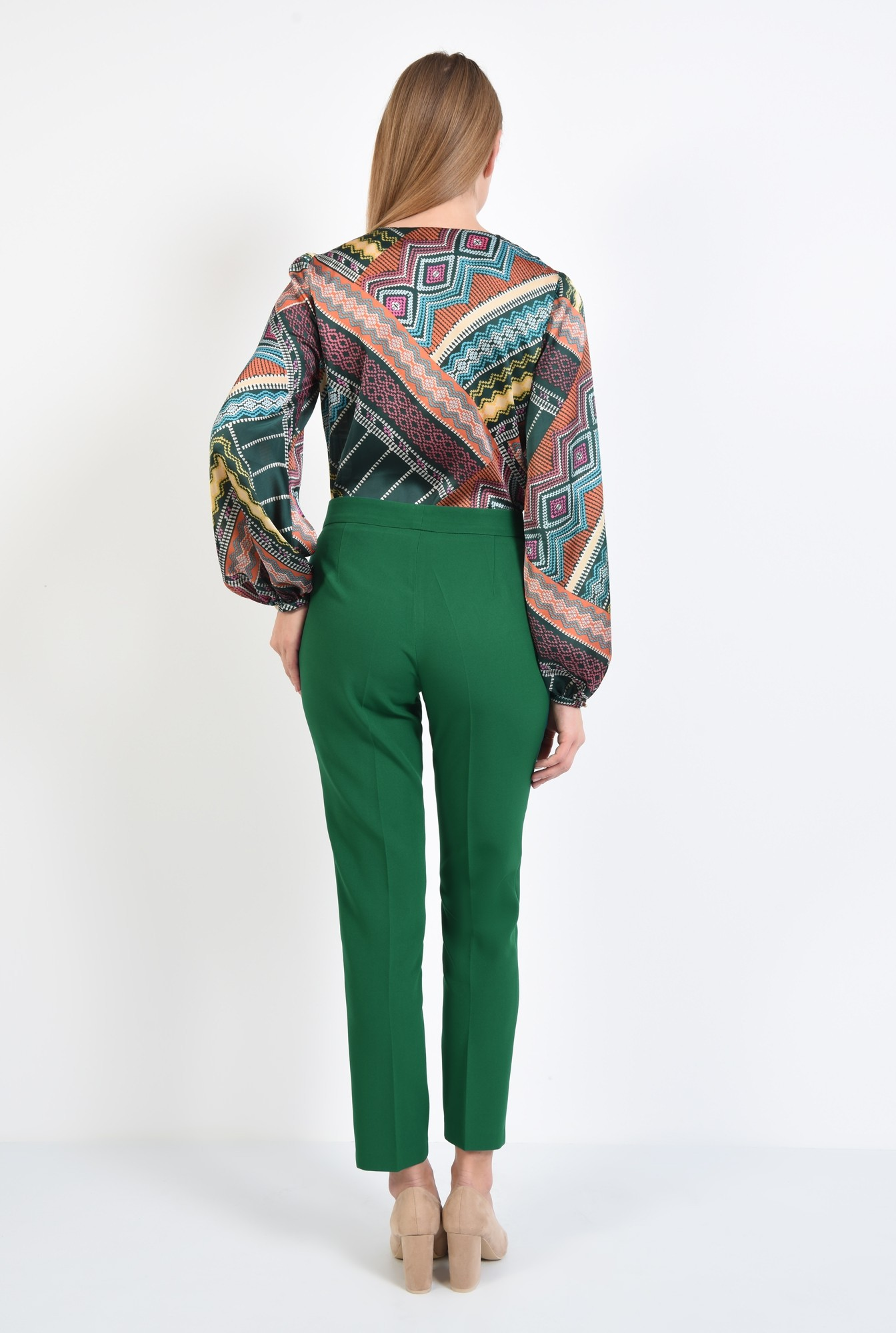 1 - 360 - pantaloni casual, croi conic, betelie, la dunga