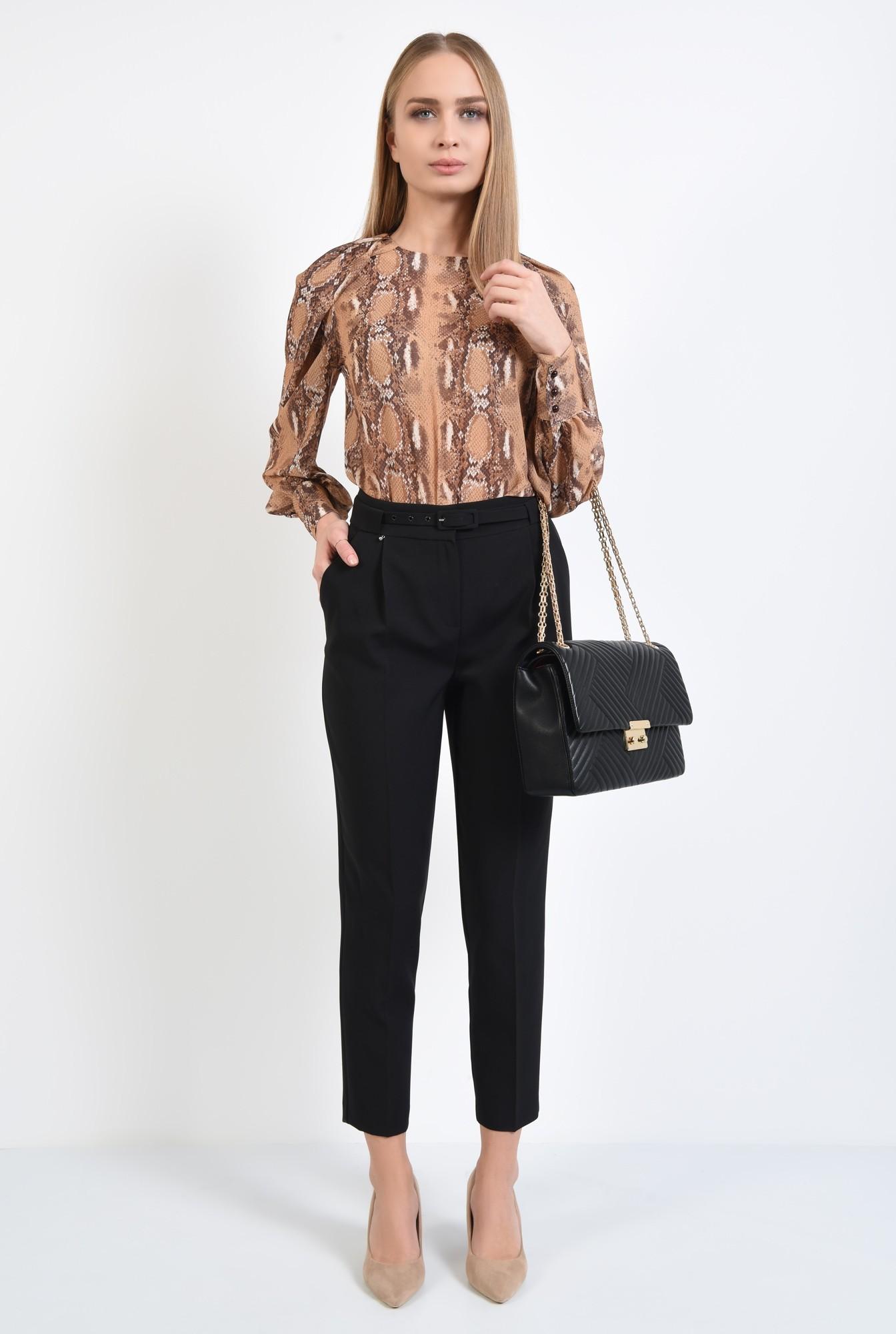 3 - pantaloni de zi, negri, office, de birou, centura ingusta