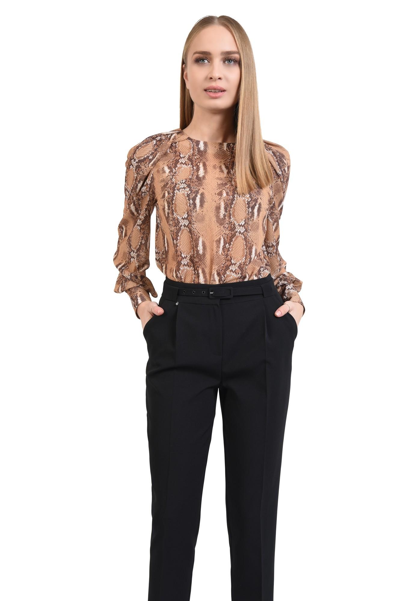 2 - pantaloni de zi, negri, office, de birou, centura ingusta