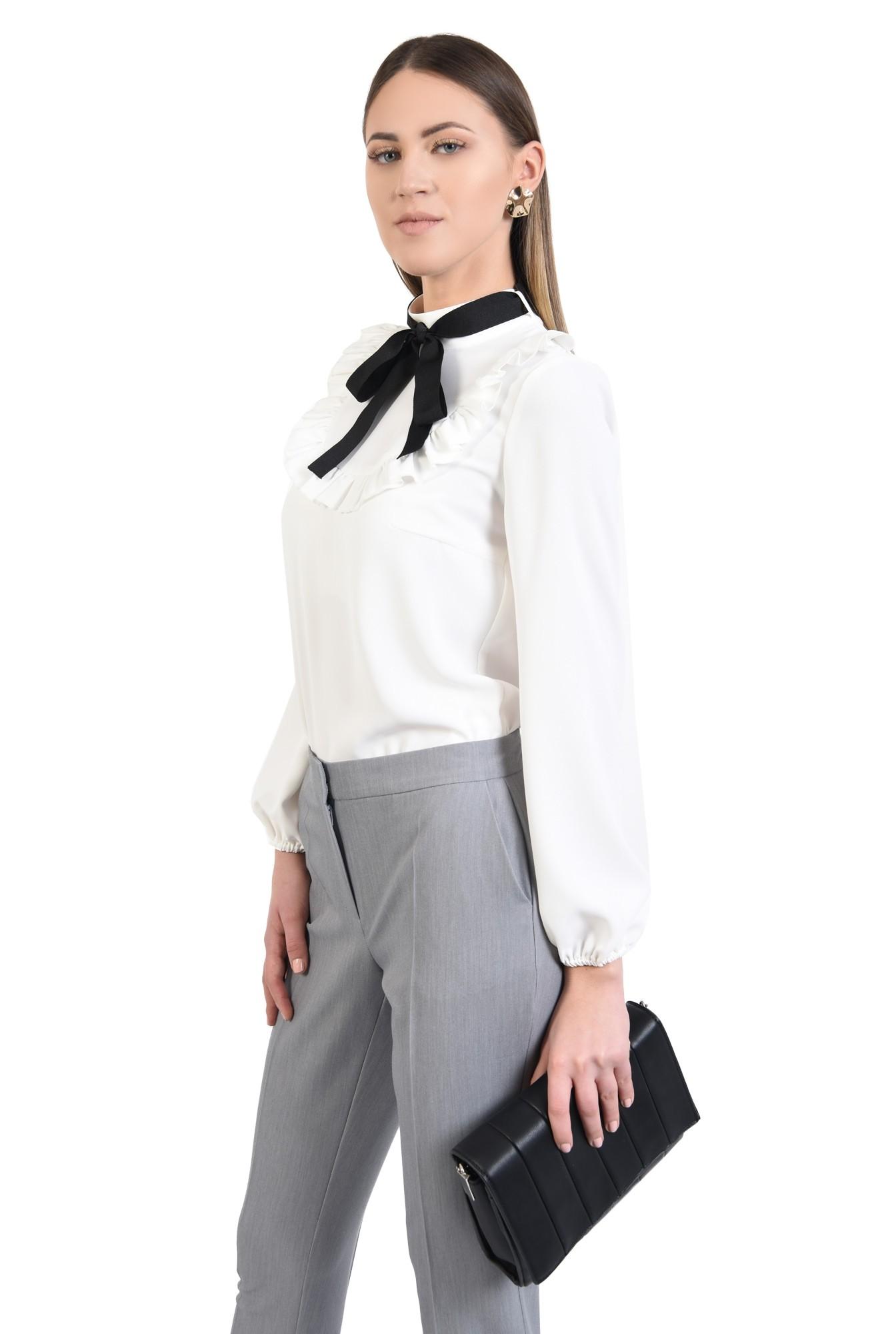 2 - pantaloni gri, office, croi conic, mansete