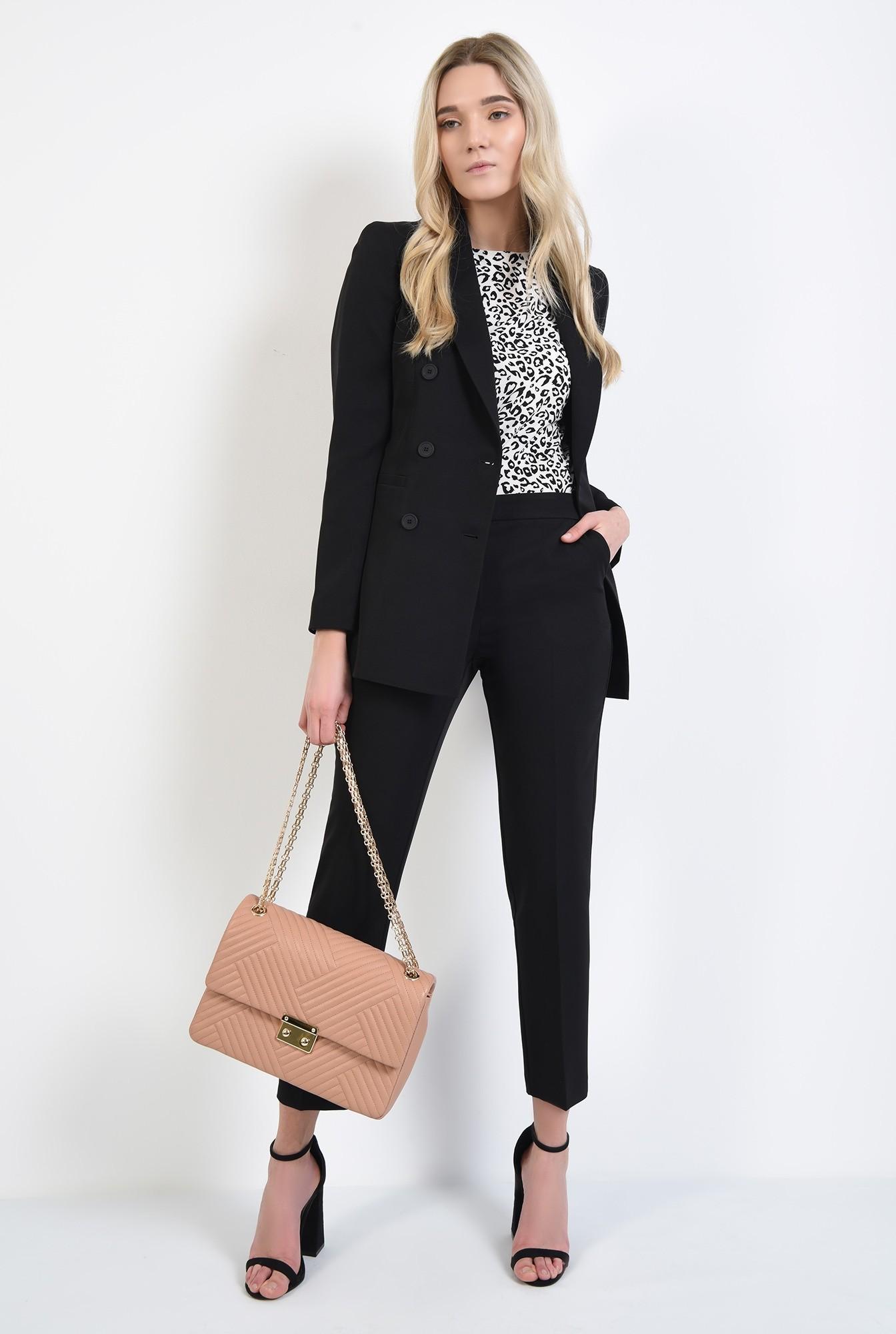 2 - pantaloni de zi, negri, lungi, croi tigareta