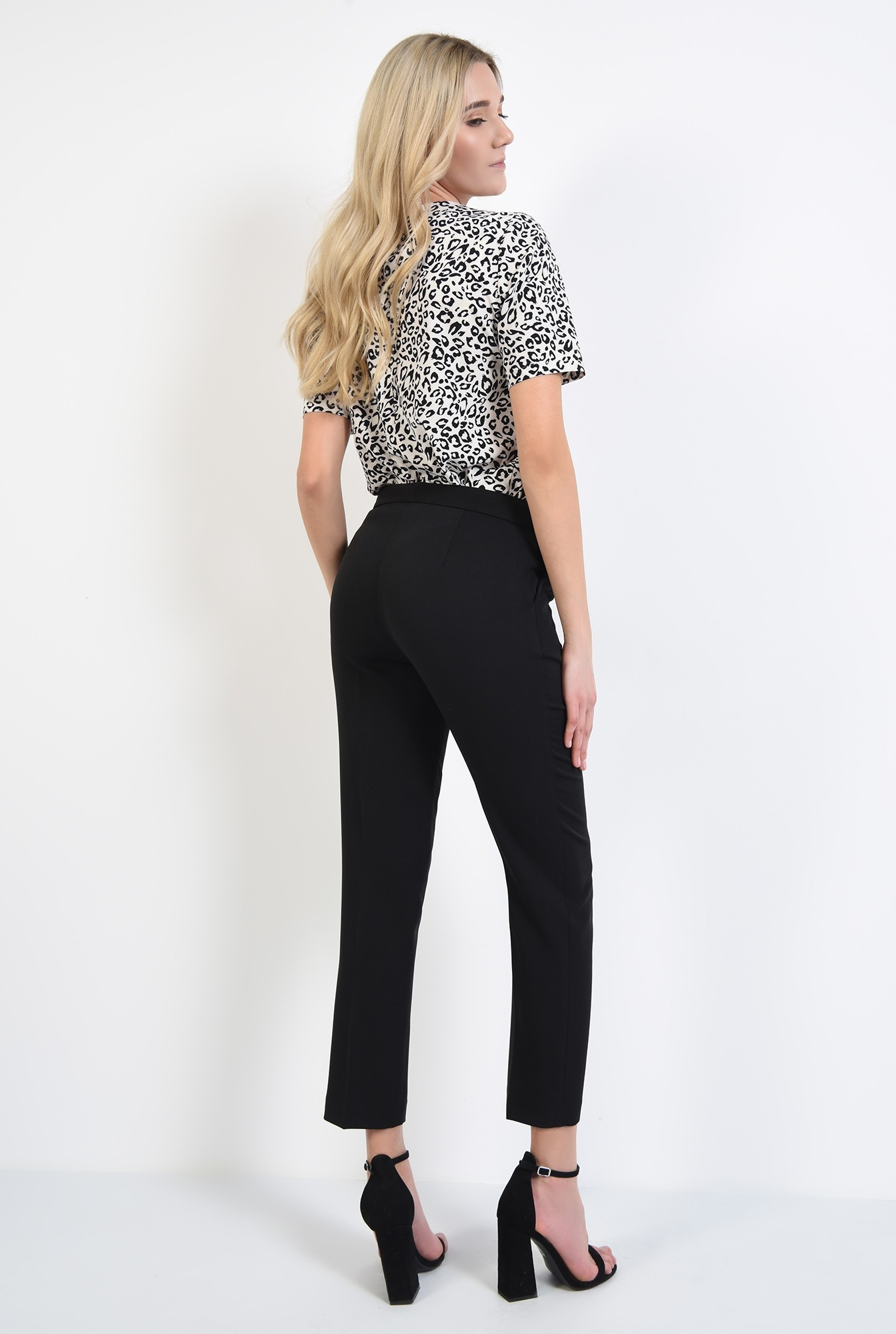1 - pantaloni de zi, negri, lungi, croi tigareta