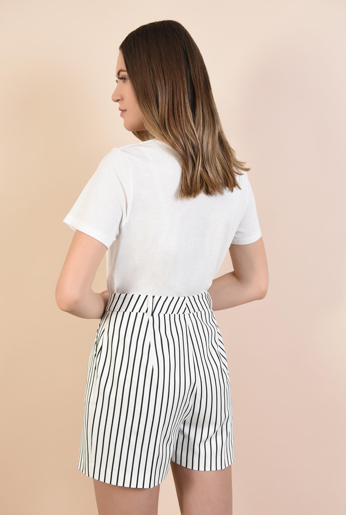 1 - pantaloni cu imprimeu, cu talie inalta, buzunare in cusatura, cu gaici