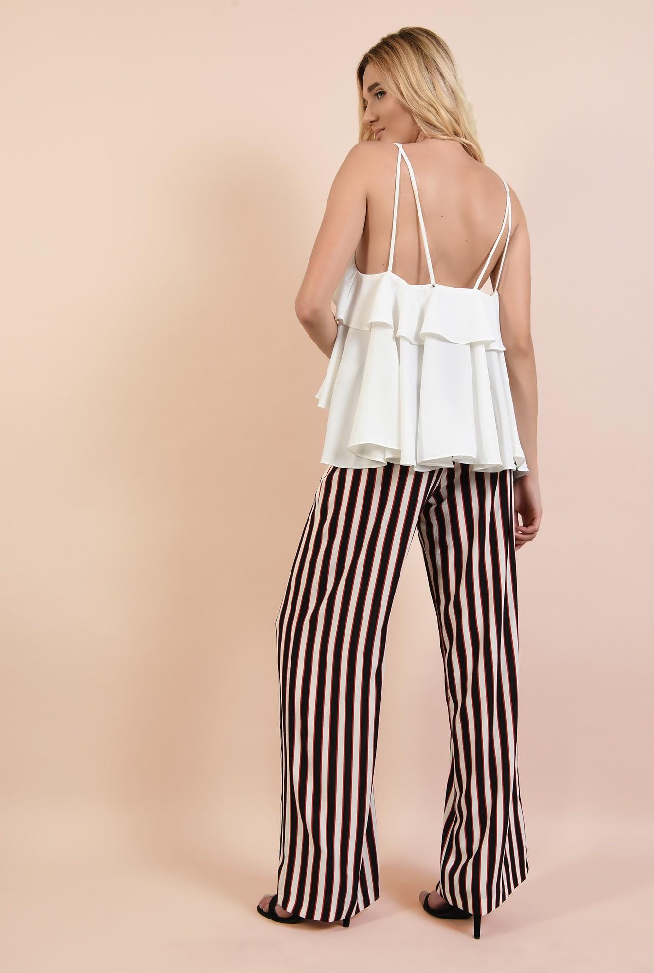 1 - 360 - pantaloni cu dungi, drepti, croi lejer, cu talie elastica, buzunare, Poema