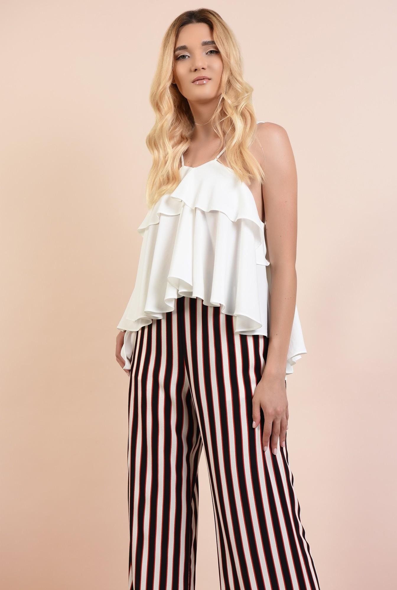 2 - 360 - pantaloni cu dungi, drepti, croi lejer, cu talie elastica, buzunare, Poema