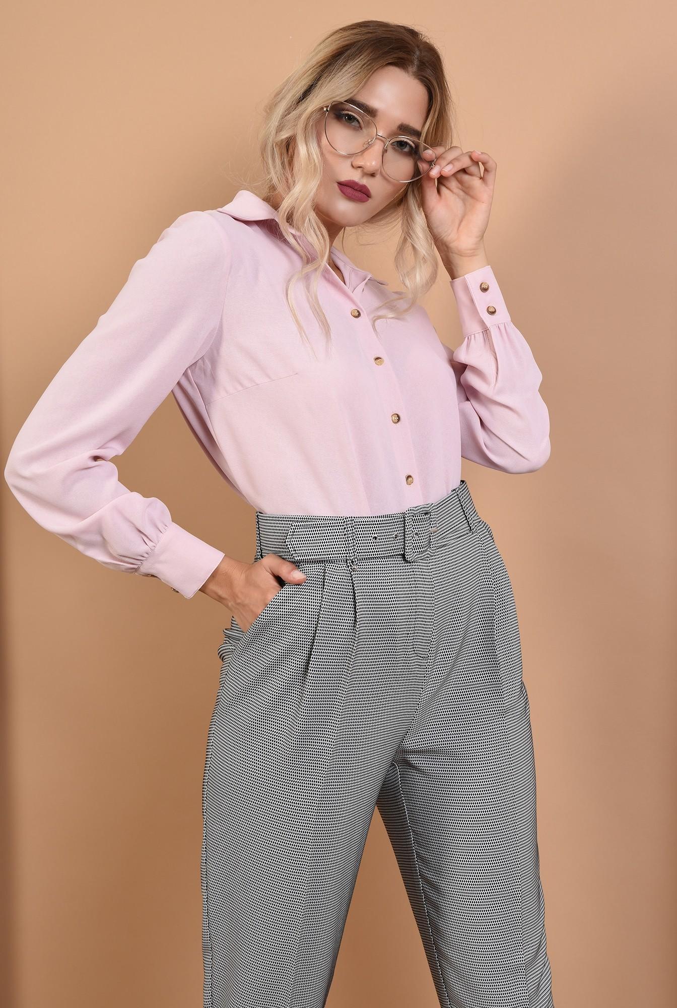 0 - 360 - pantaloni de toamna, imprimeu, curea, buzunare functionale