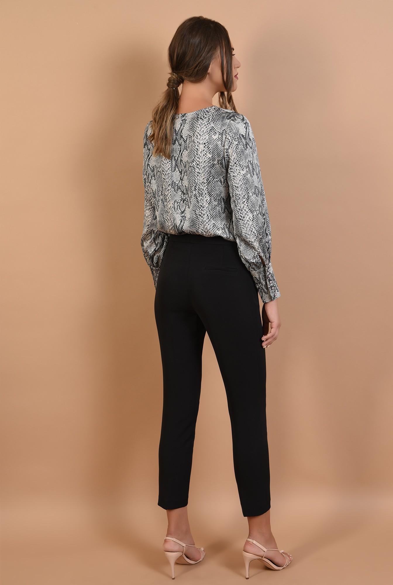 1 - 360 - pantaloni conici, cu croi la dunga, buzunare, Poema, office