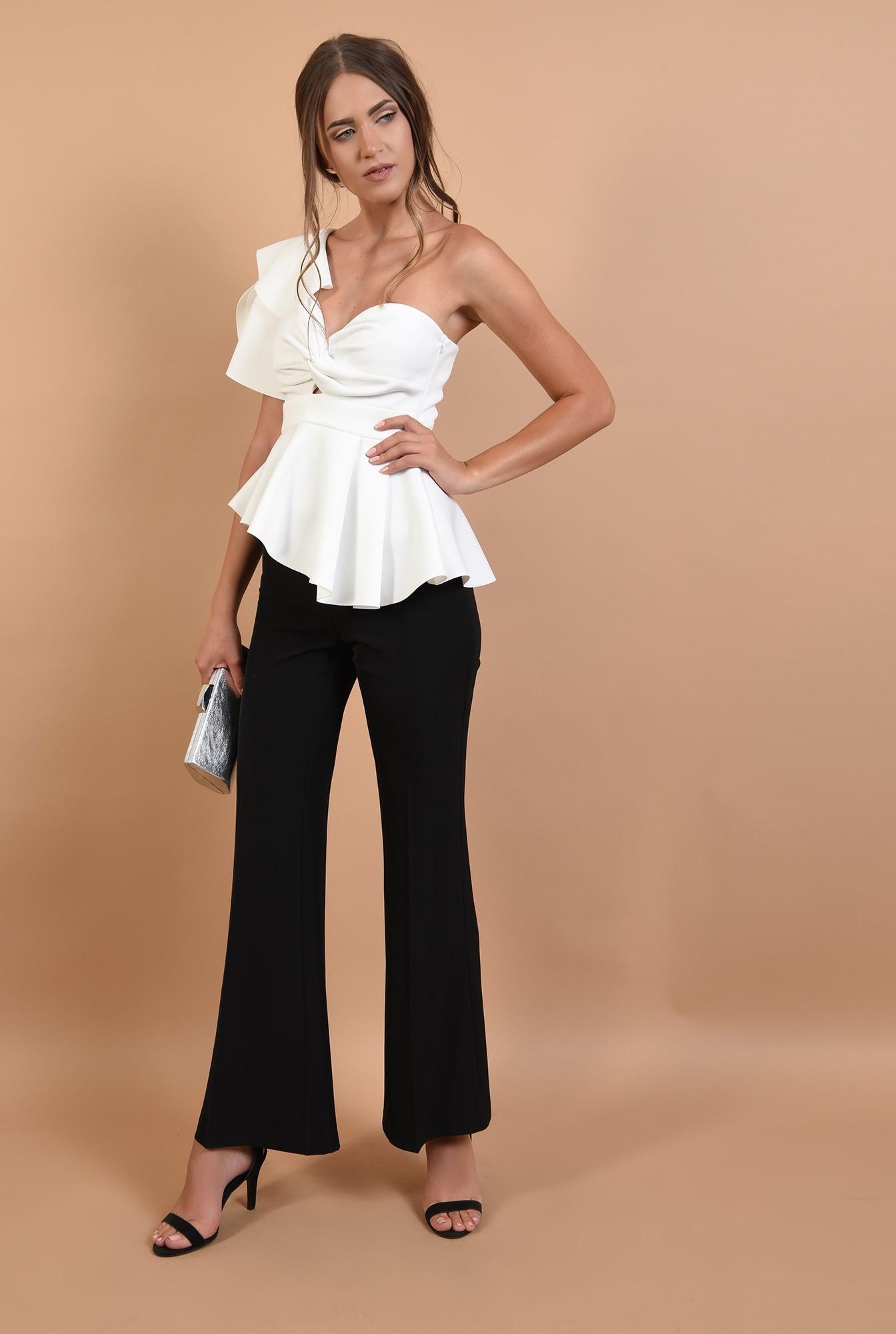 3 - pantaloni eleganti, lungi, evazati, de ocazie