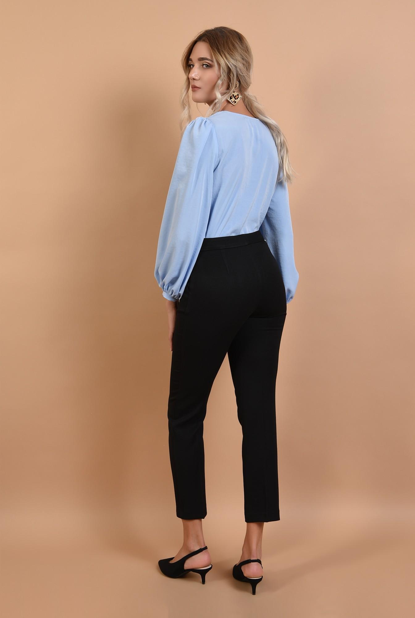 1 - pantaloni conici, negri, office, cu talie inalta, Poema
