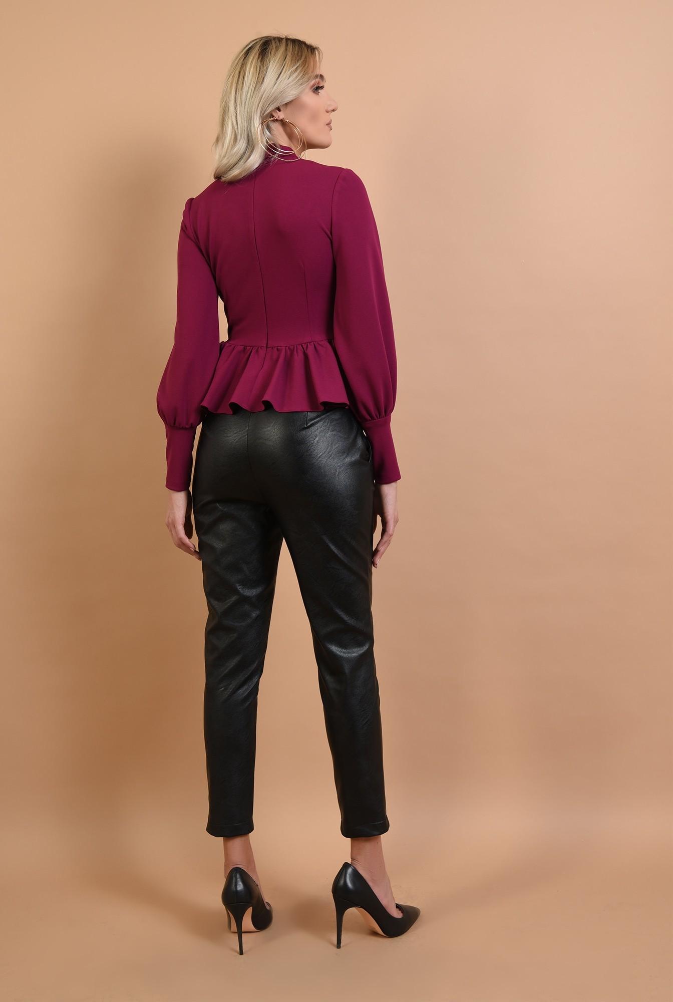 1 - pantaloni negri, lungi, croi conic, talie medie