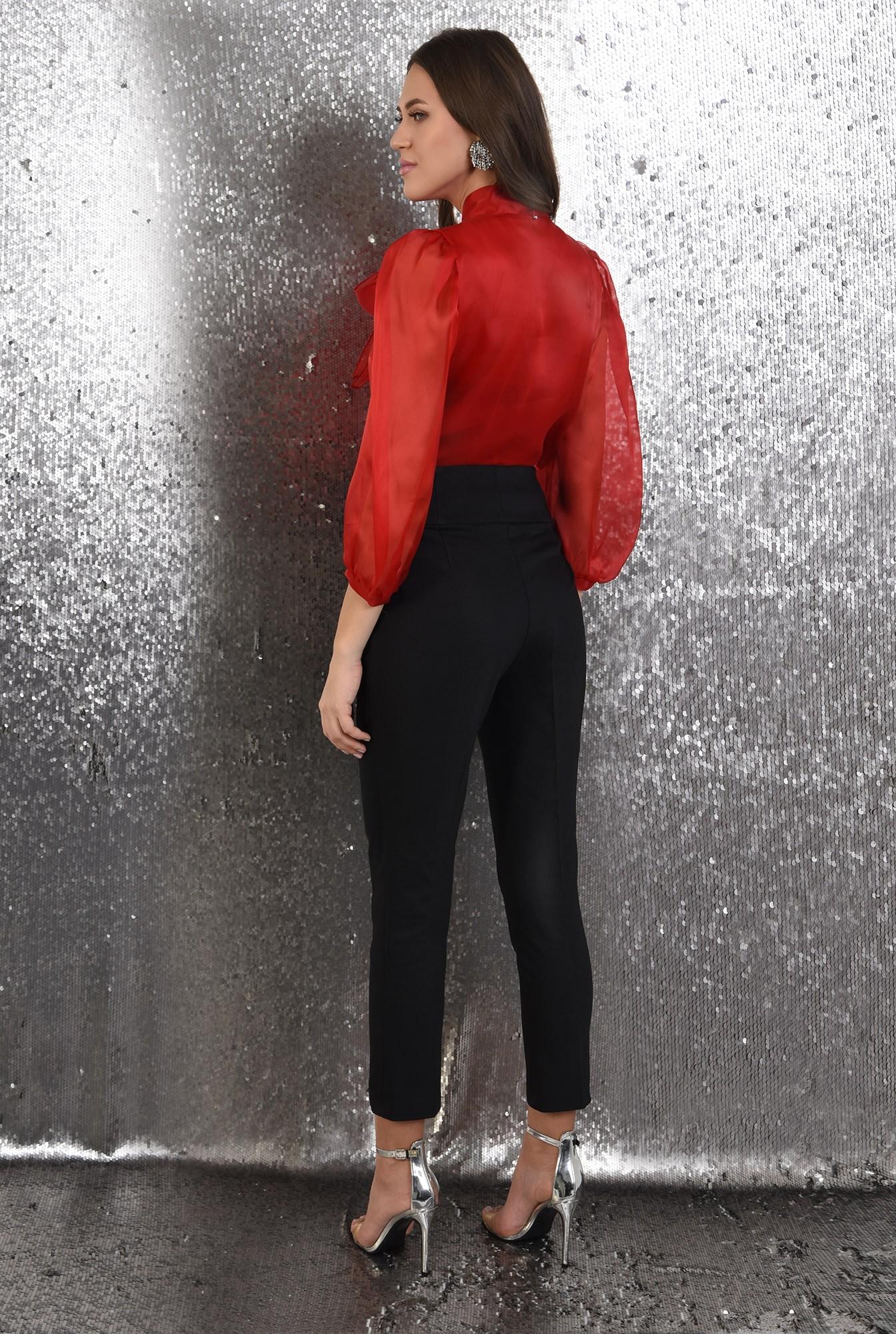 1 - 360 - pantaloni eleganti, conici, lungi, talie inalta, betelie lata