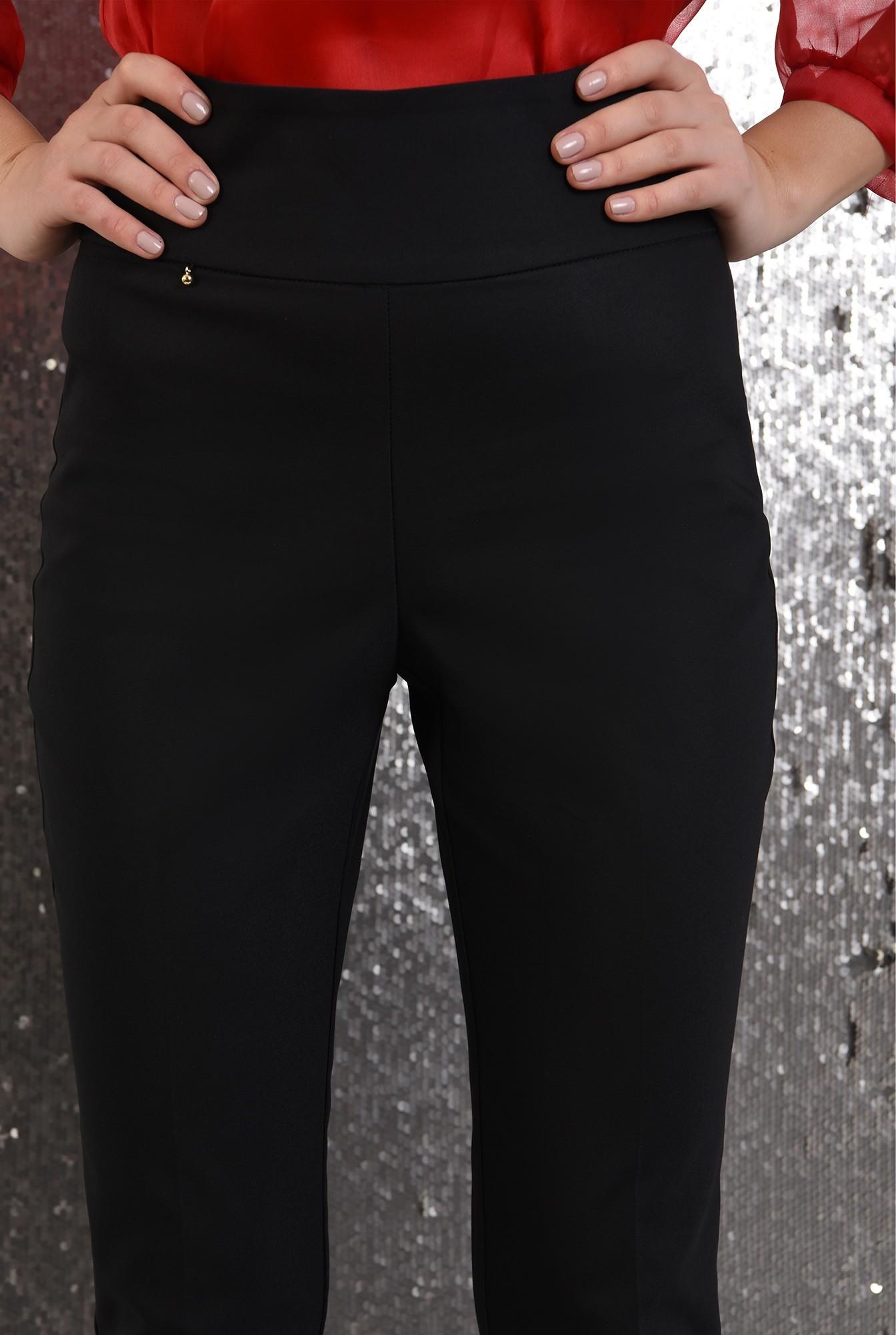 2 - 360 - pantaloni eleganti, conici, lungi, talie inalta, betelie lata