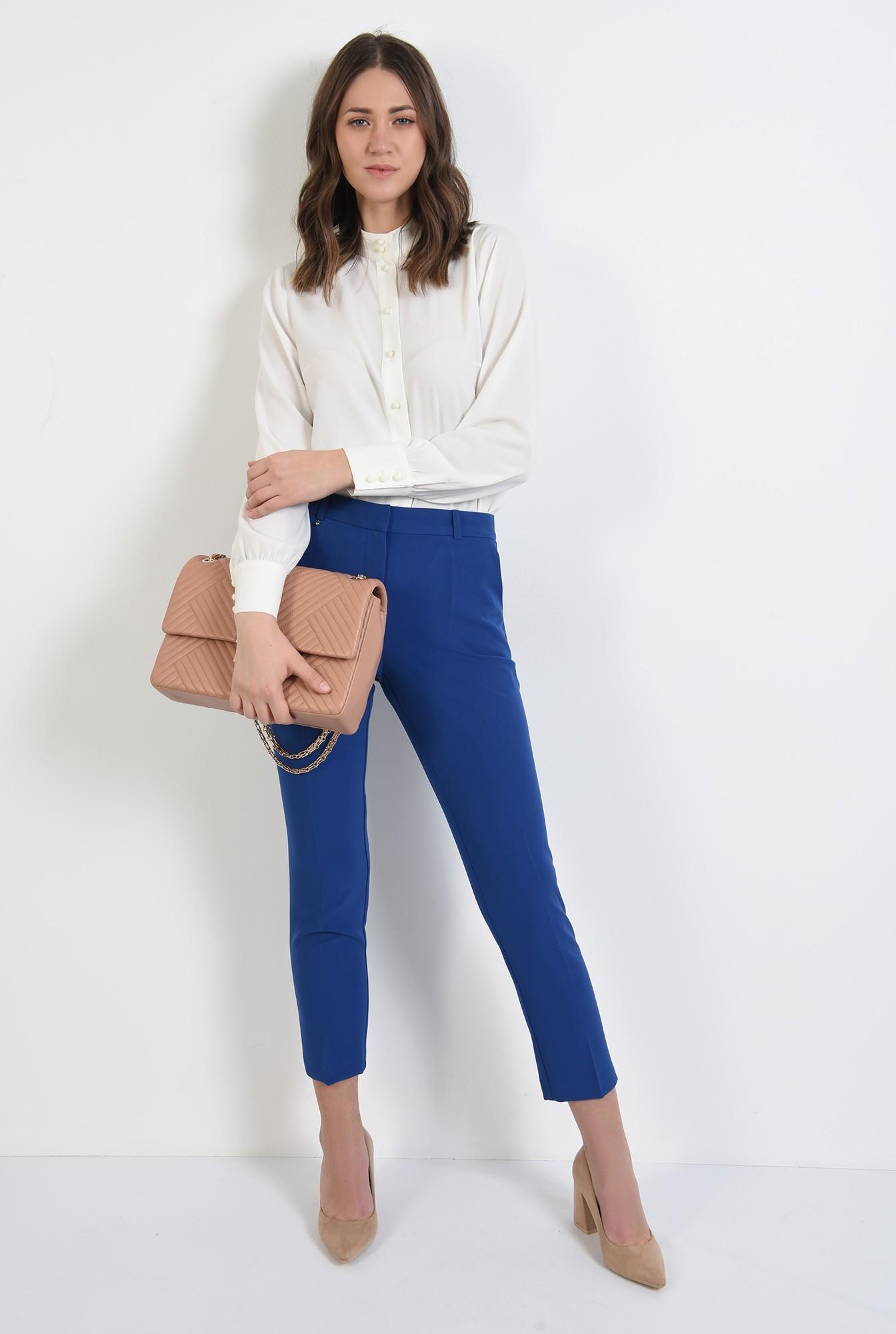 3 - pantaloni casual, conici, croi la dunga, talie medie, Poema
