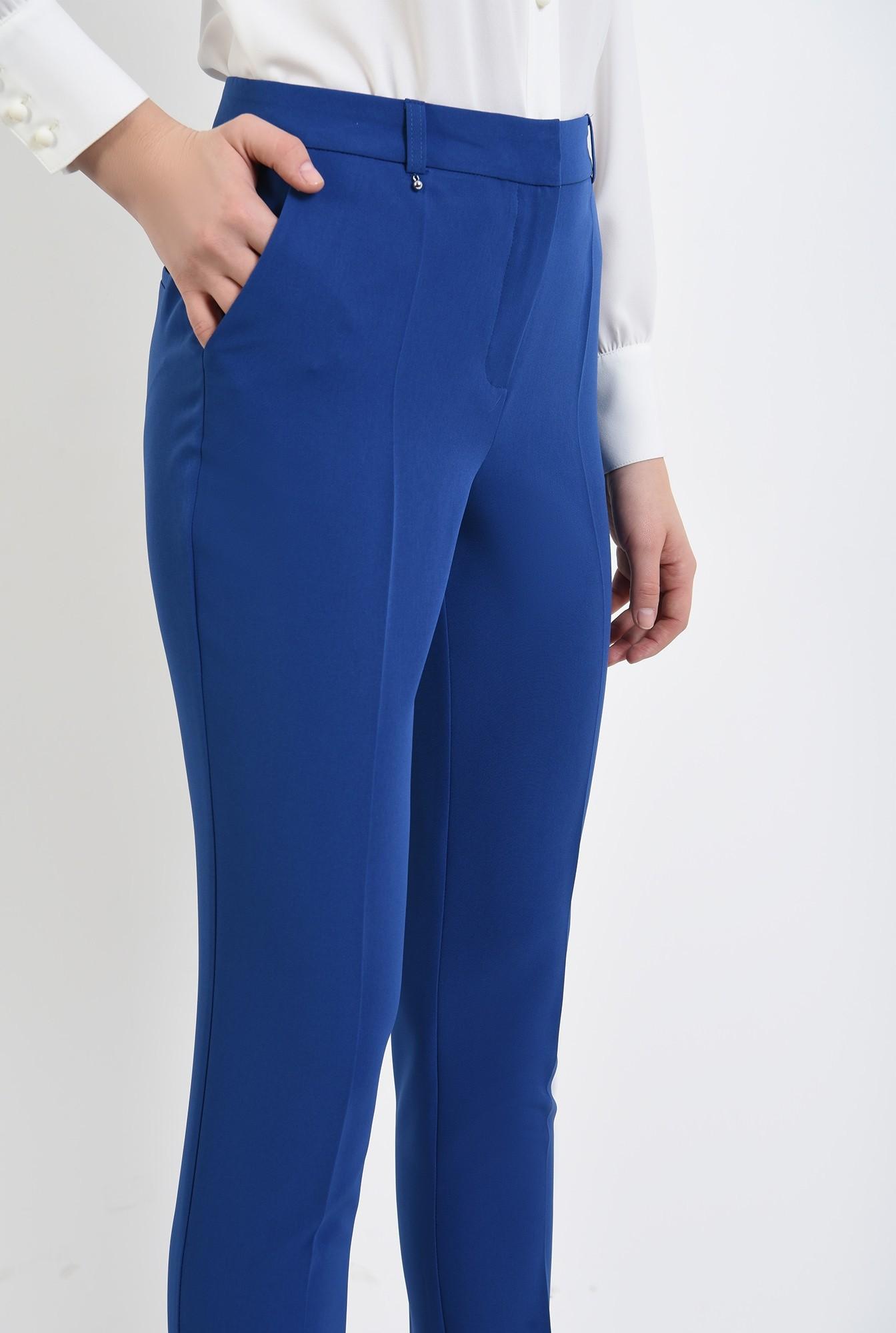 2 - pantaloni casual, conici, croi la dunga, talie medie, Poema