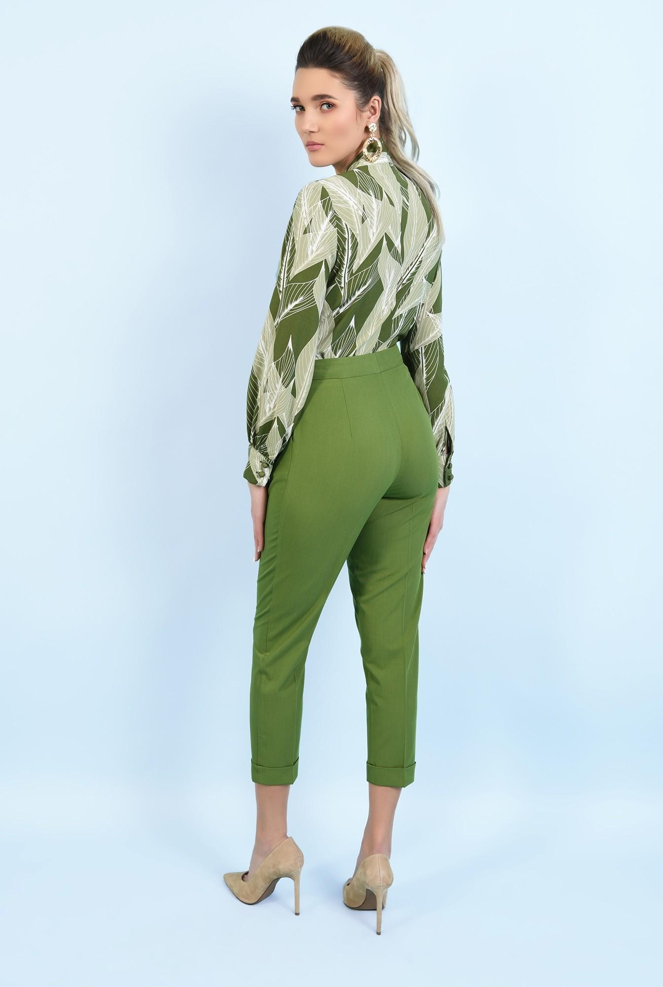 1 - 360 - pantaloni conici, cu mansete, talie inalta, pantaloni de primavara