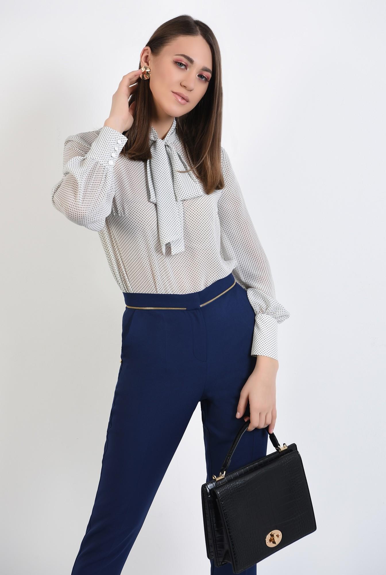 2 - pantaloni office, bleumarin, talie medie, cu buzunare, pantaloni de primavara