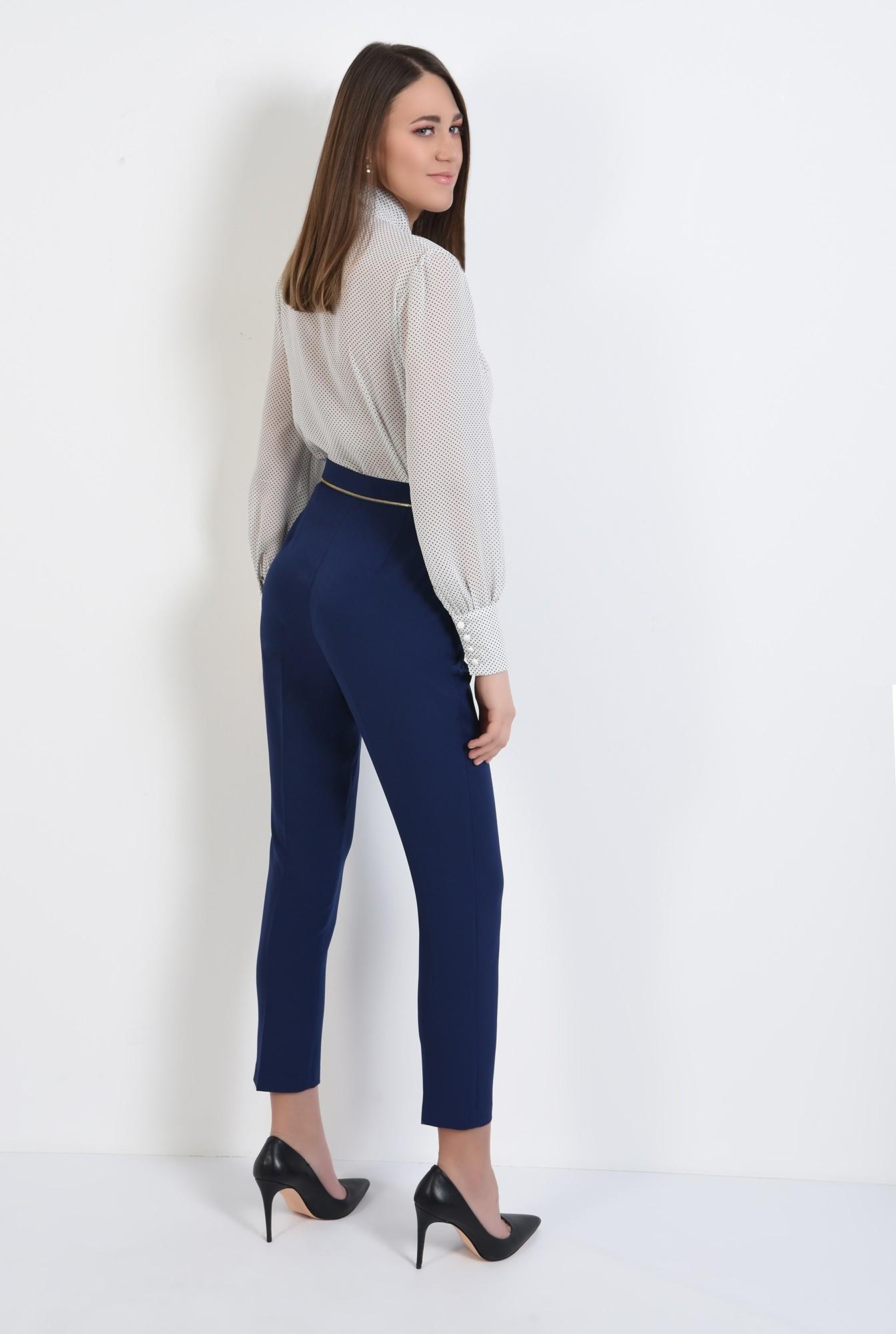 1 - pantaloni office, bleumarin, talie medie, cu buzunare, pantaloni de primavara