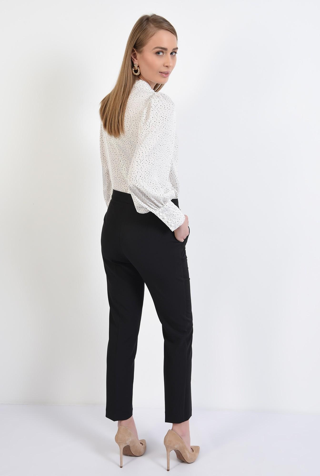 1 - pantaloni conici, tigareta, la dunga, talie medie, Poema