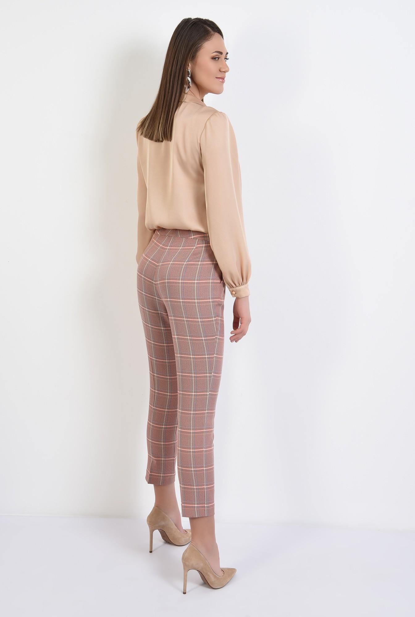 1 - 360 - pantaloni conici, in carouri, cu talie medie, cu buzunare, Poema