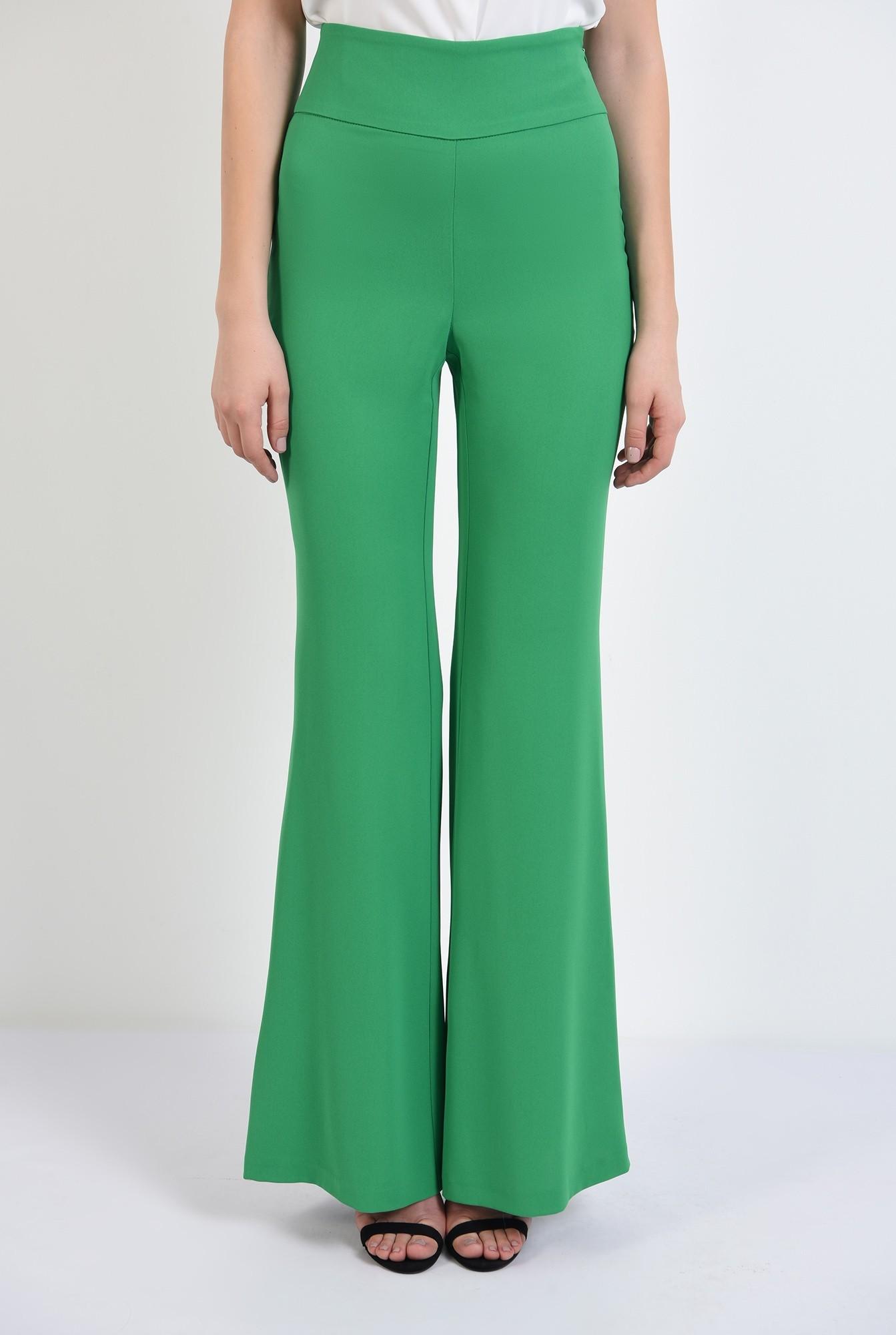 2 -  pantaloni evazati, talie inalta, betelie contur, pantaloni de primavara