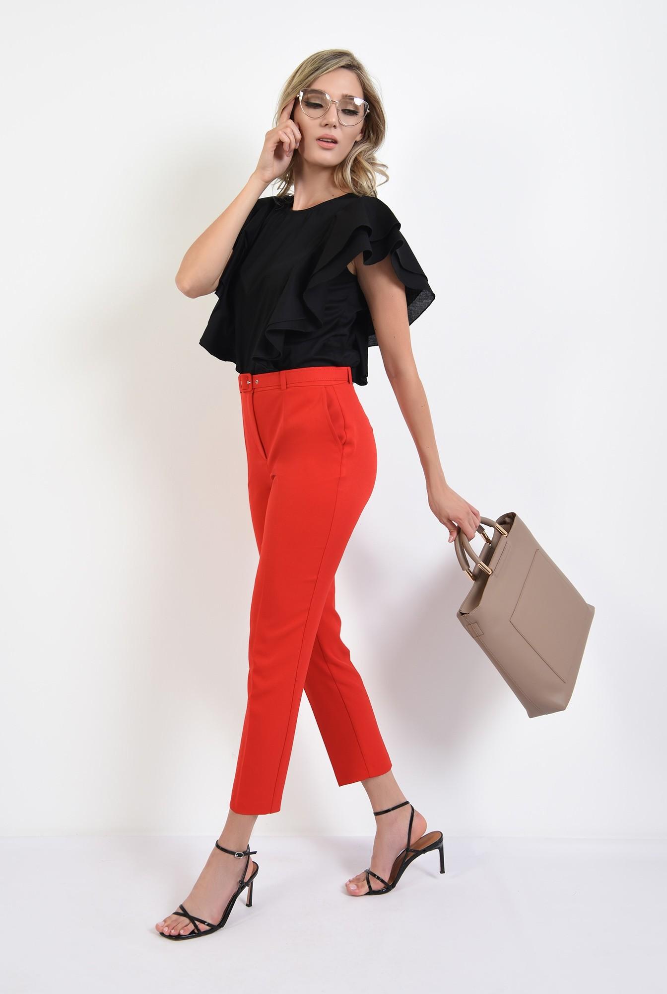0 - 360 - pantaloni rosii, office, cu curea, comici, Poema