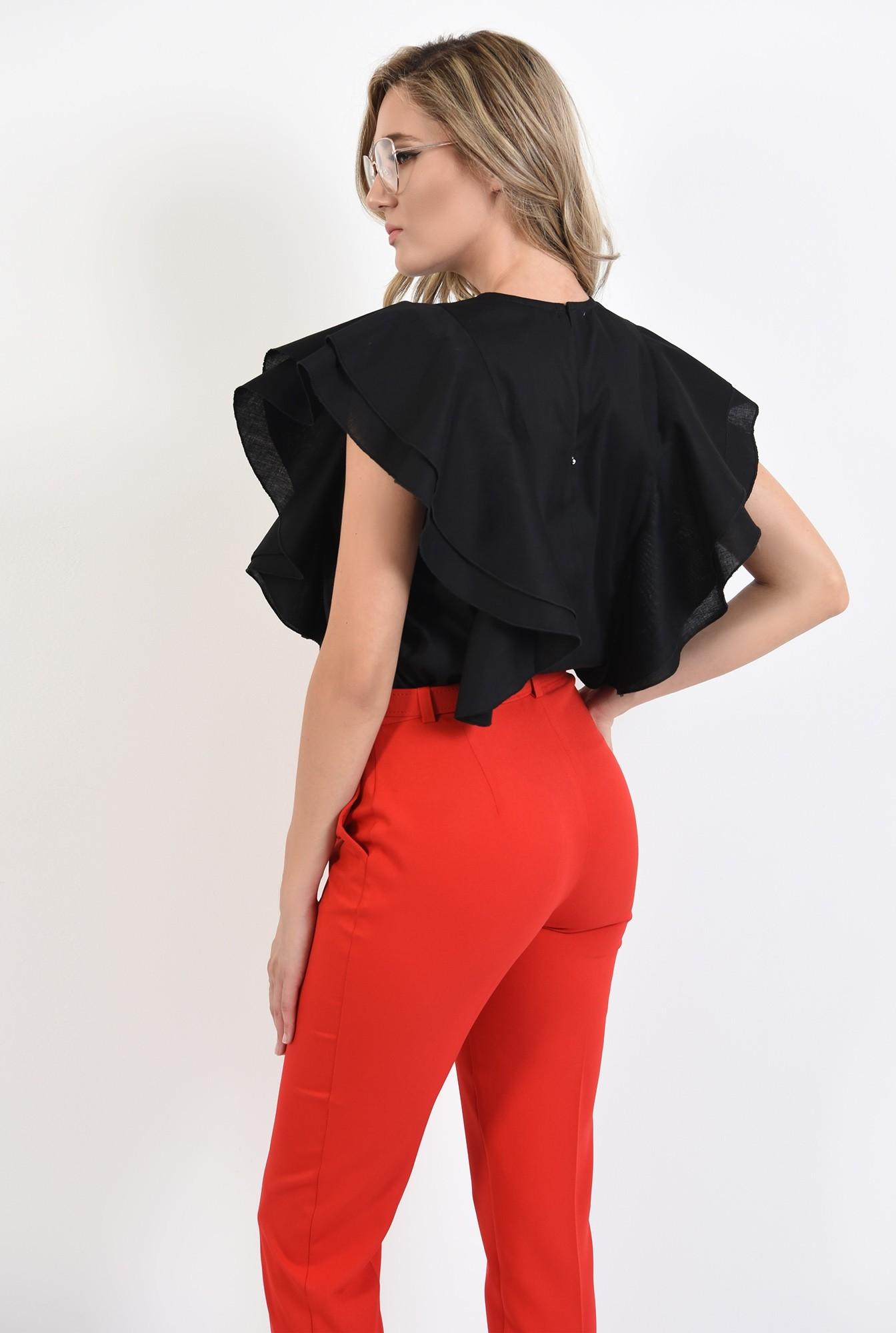 1 - 360 - pantaloni rosii, office, cu curea, comici, Poema