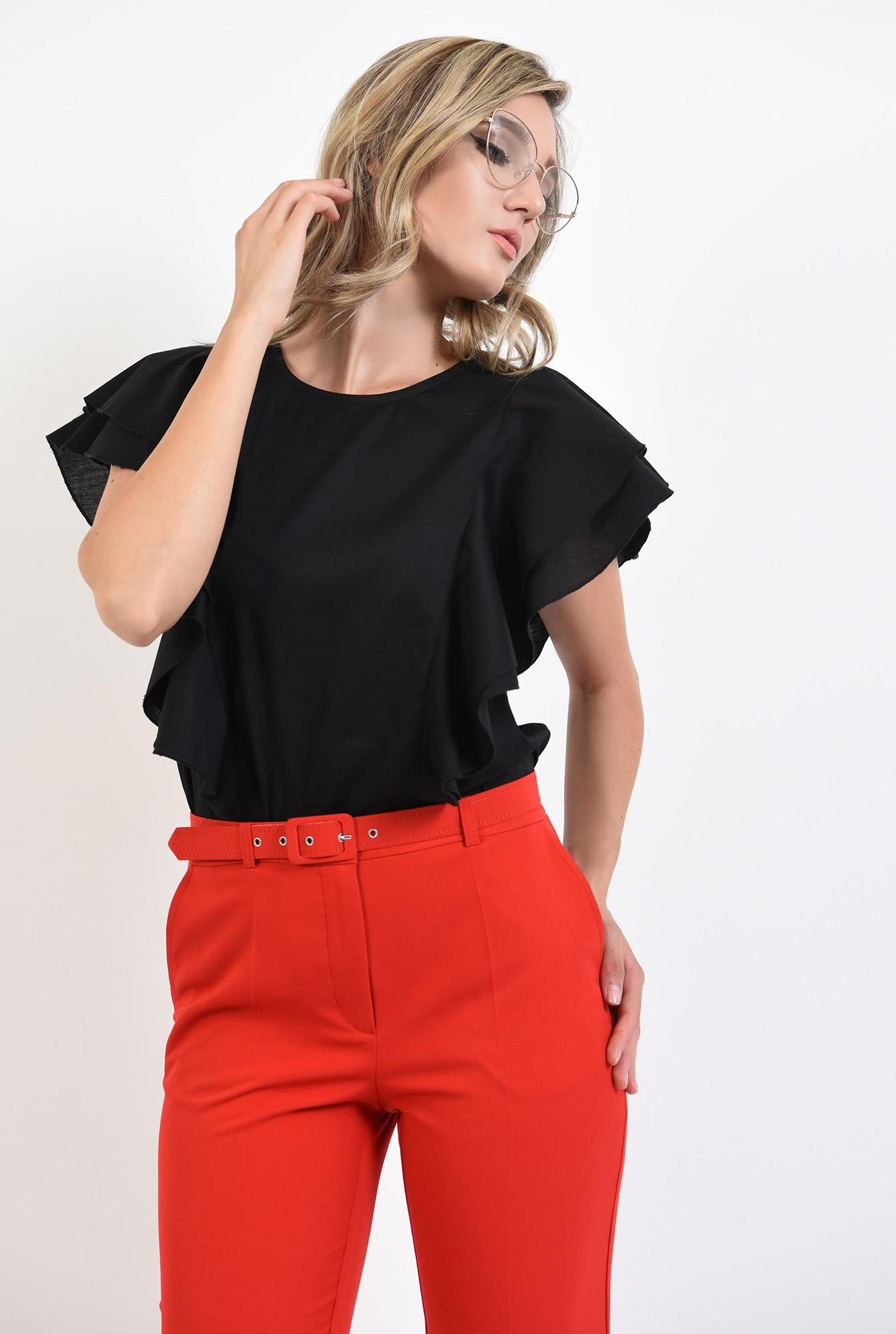 2 - 360 - pantaloni rosii, office, cu curea, comici, Poema