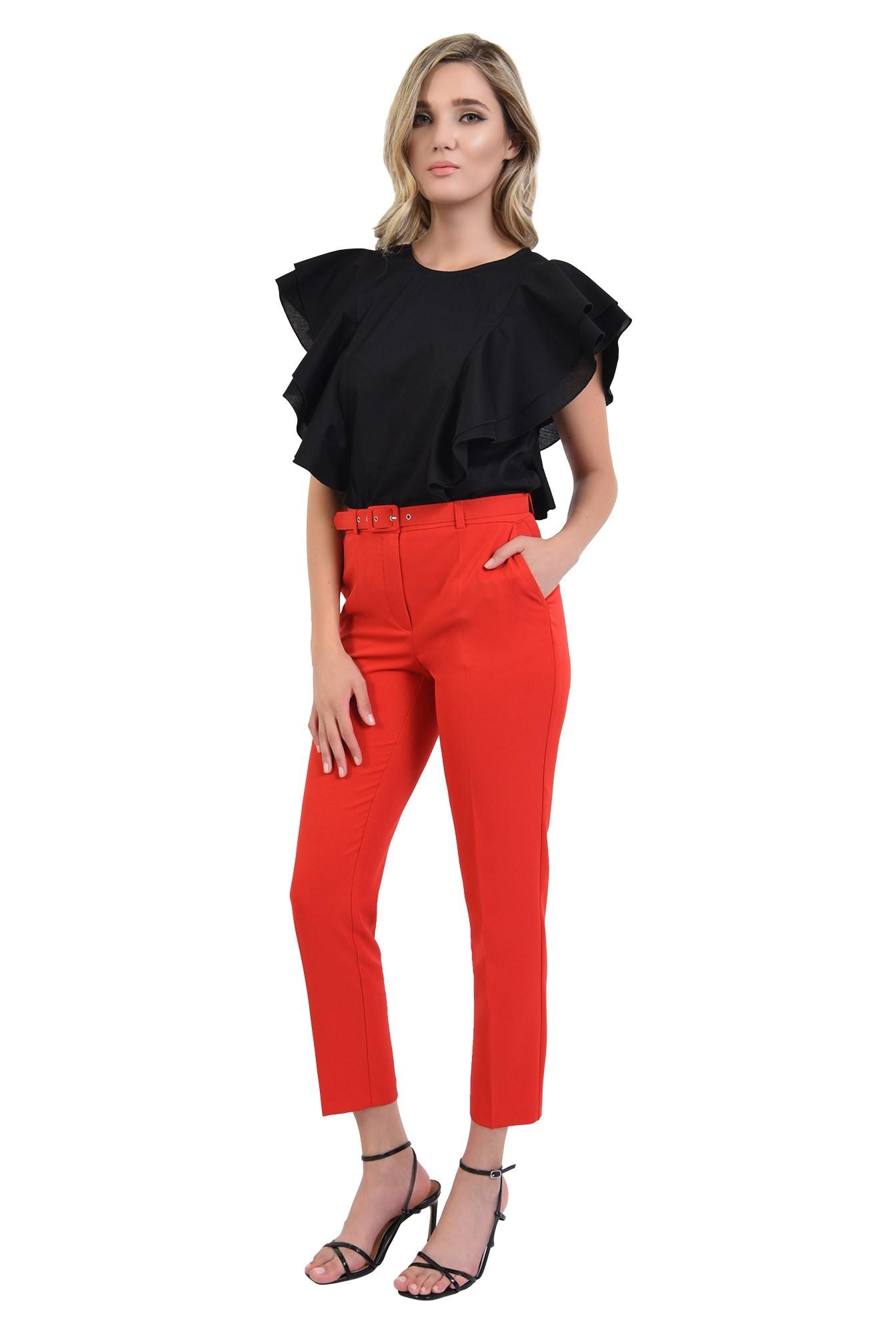 3 - 360 - pantaloni rosii, office, cu curea, comici, Poema