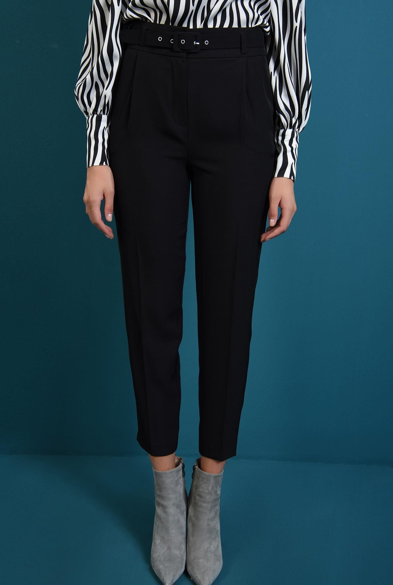 2 - 360 - pantaloni lejeri, cu centura, cu buzunare laterale