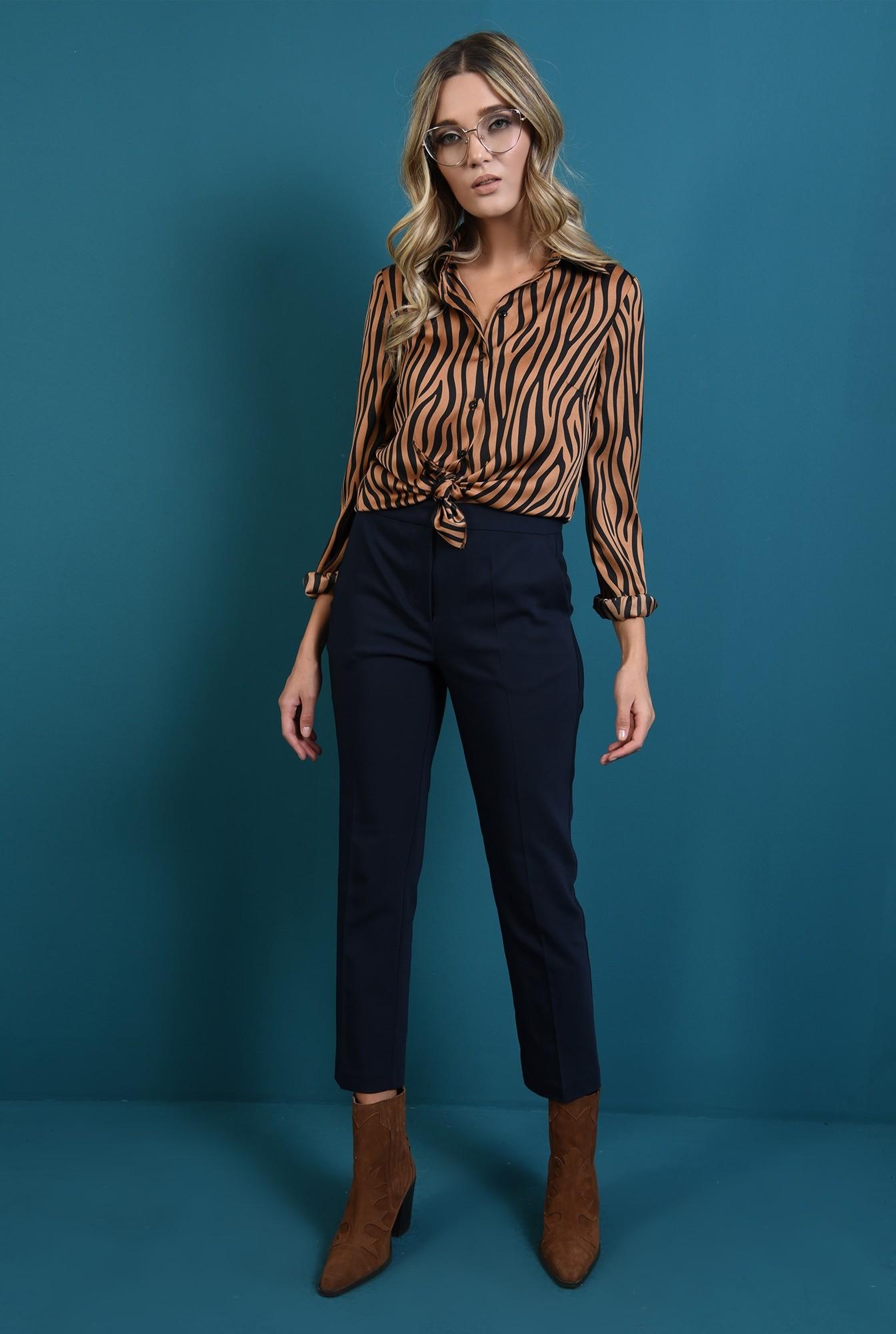 0 - pantaloni bleumarin cu buzunare laterale