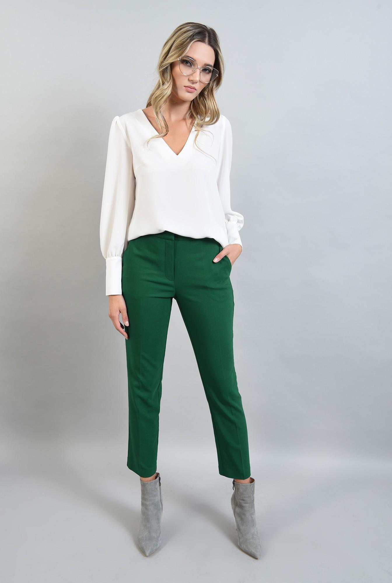 0 - pantaloni verzi, croi conic, Poema