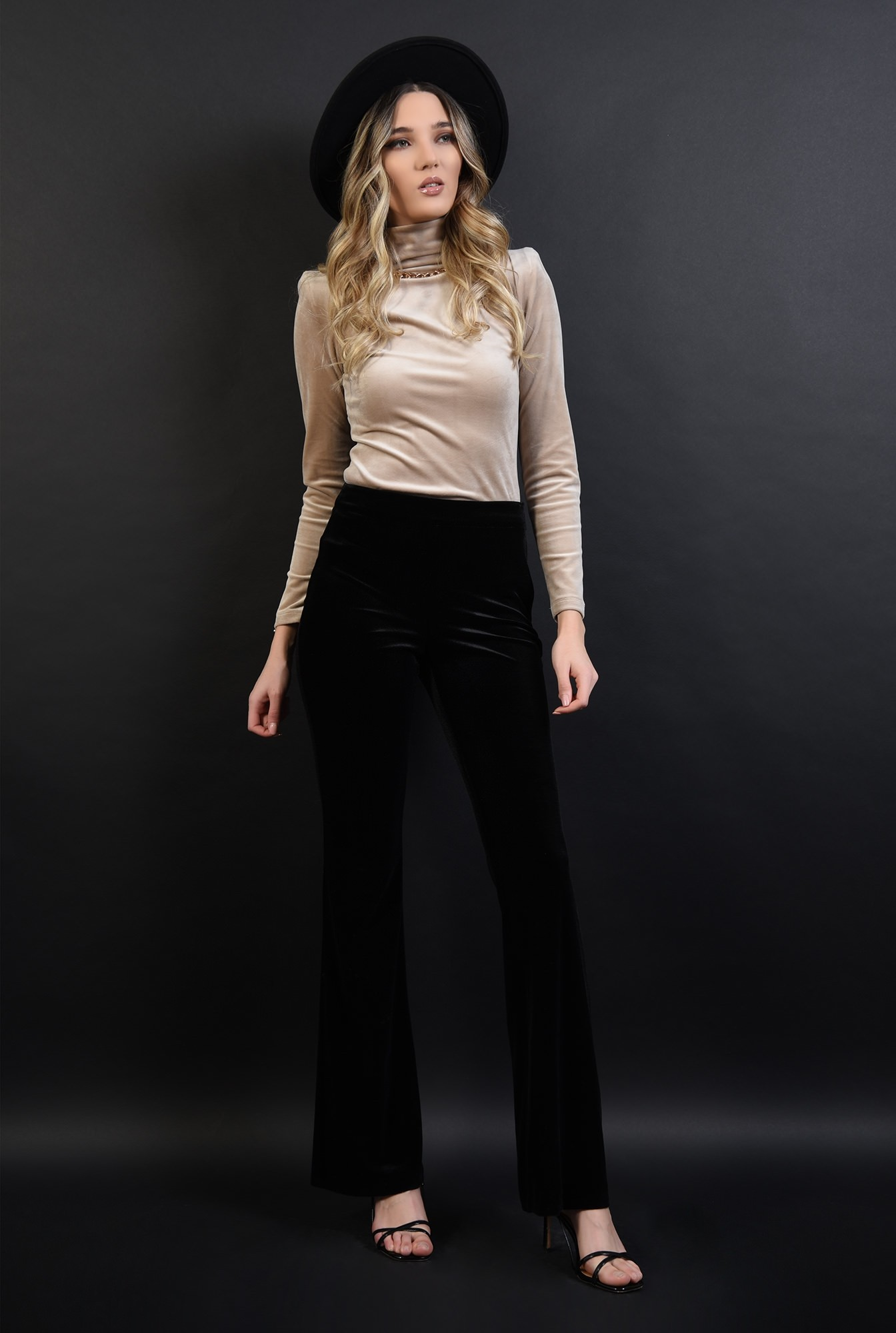 1 - 360 - pantaloni eleganti, din catifea, Poema