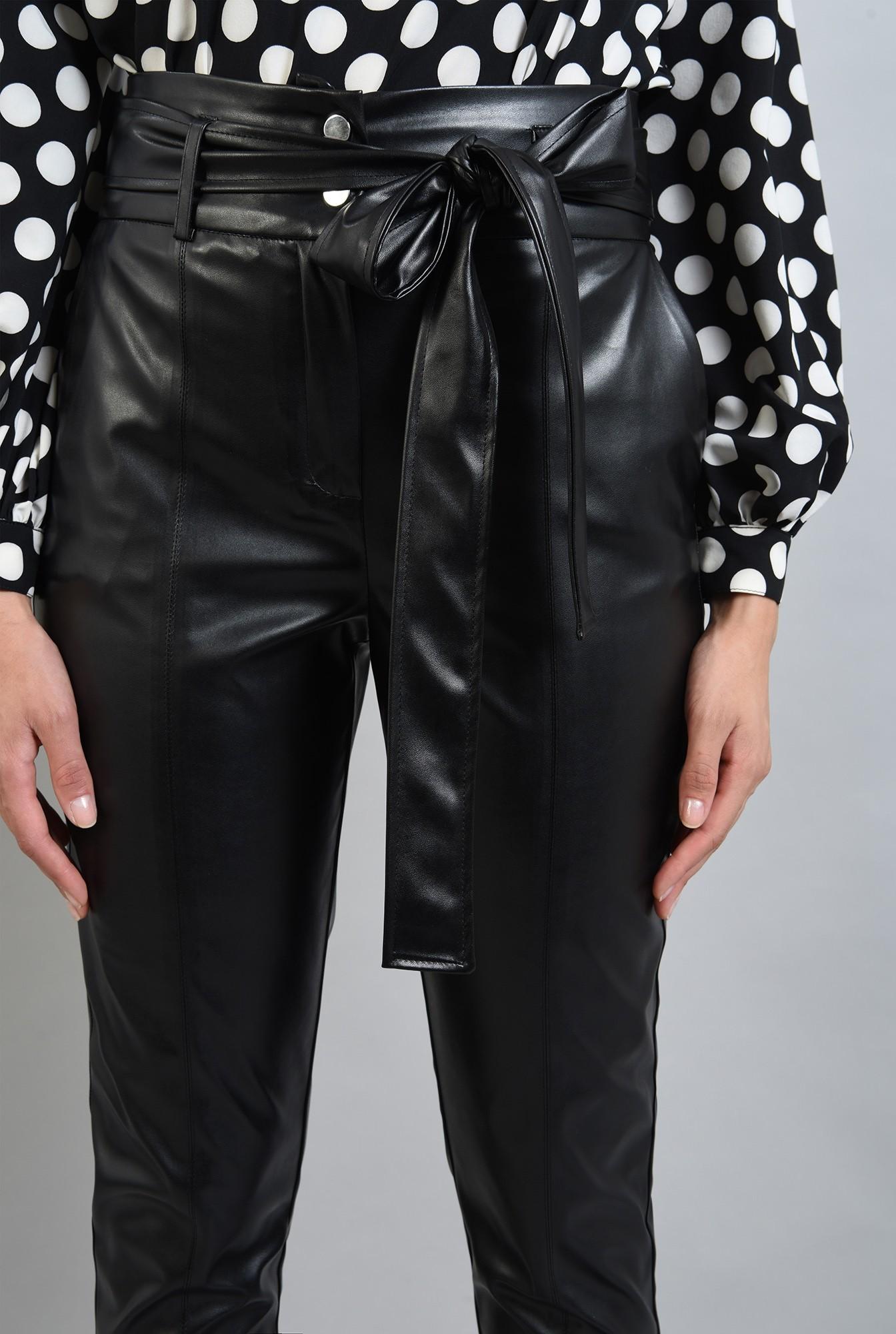 2 - pantaloni conici, casual, cu buzunare laterale