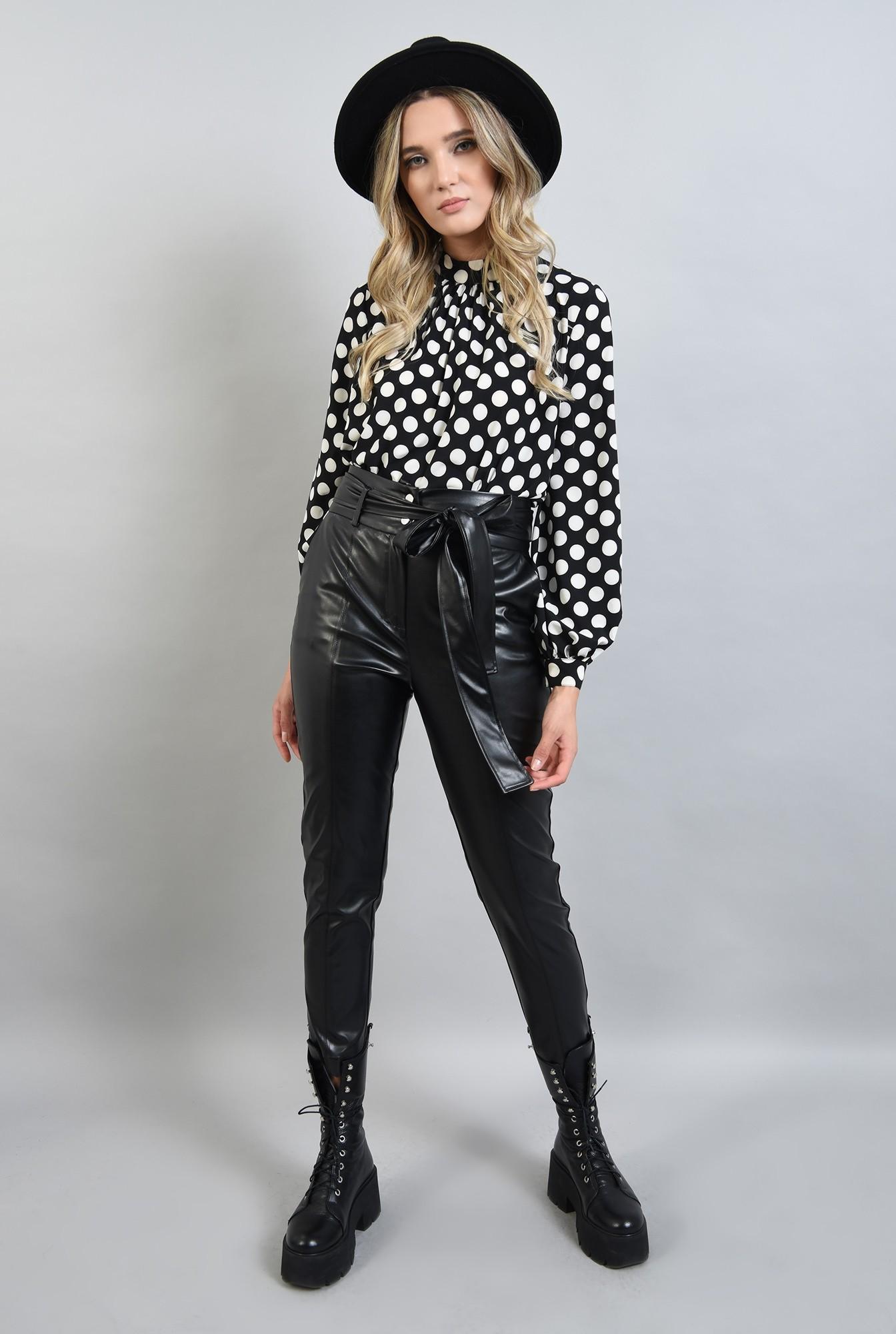 0 - pantaloni conici, casual, cu buzunare laterale