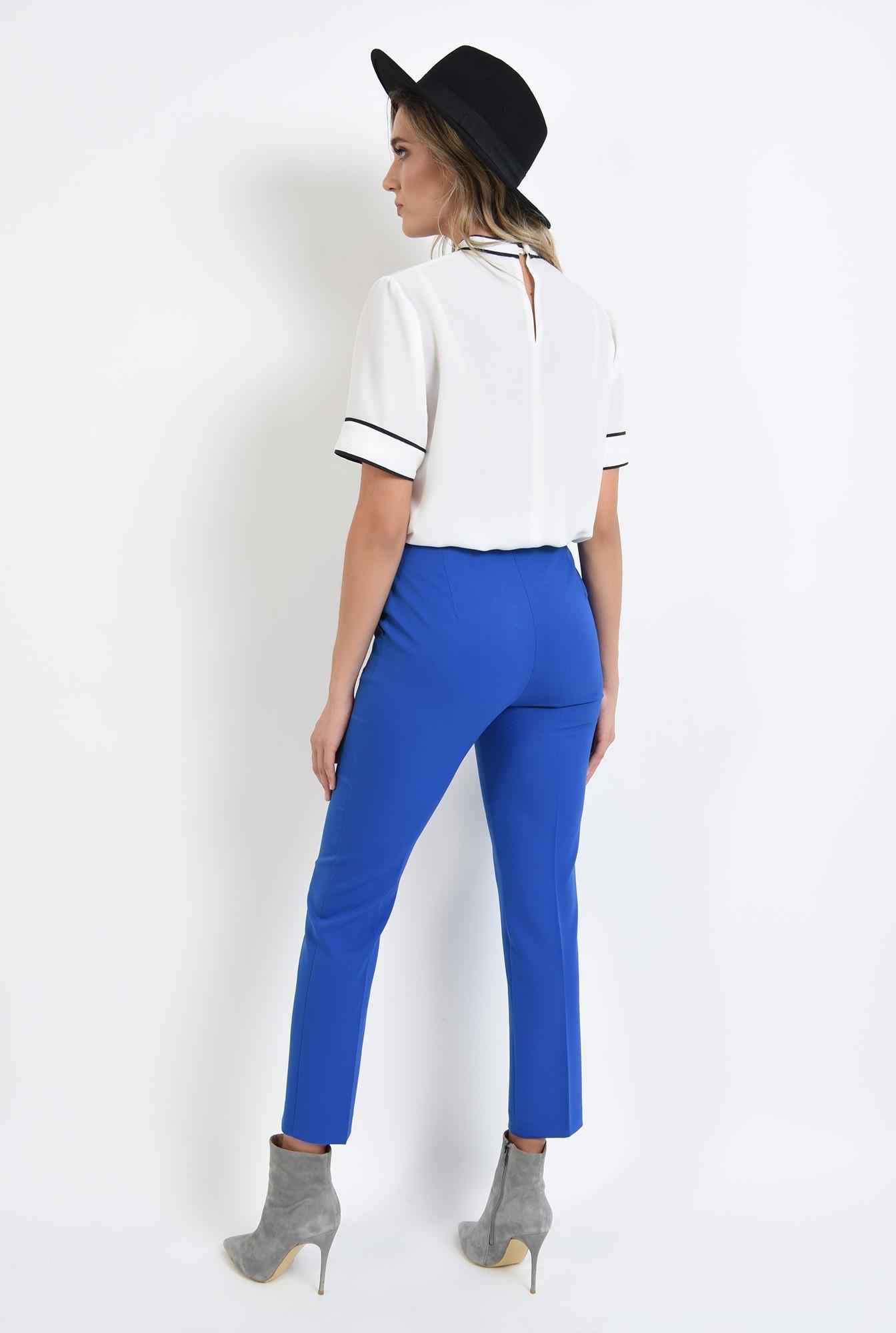1 - 360 - pantaloni  cu talie medie, cu buzunare, conici