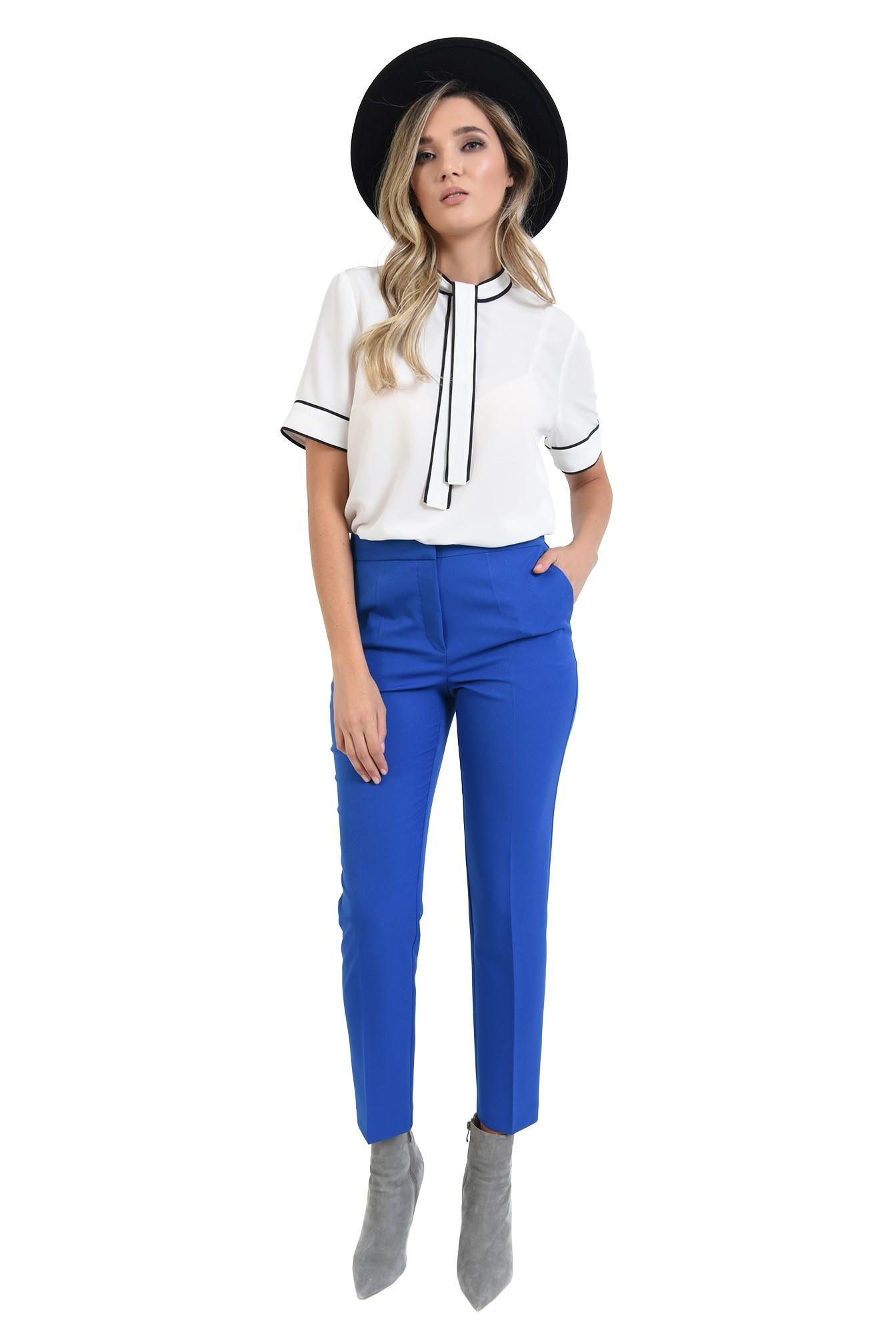 3 - 360 - pantaloni  cu talie medie, cu buzunare, conici