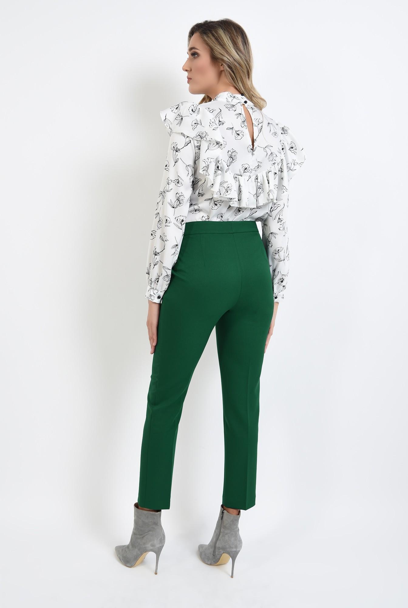 1 - pantaloni cu talie medie, croi conic, casual