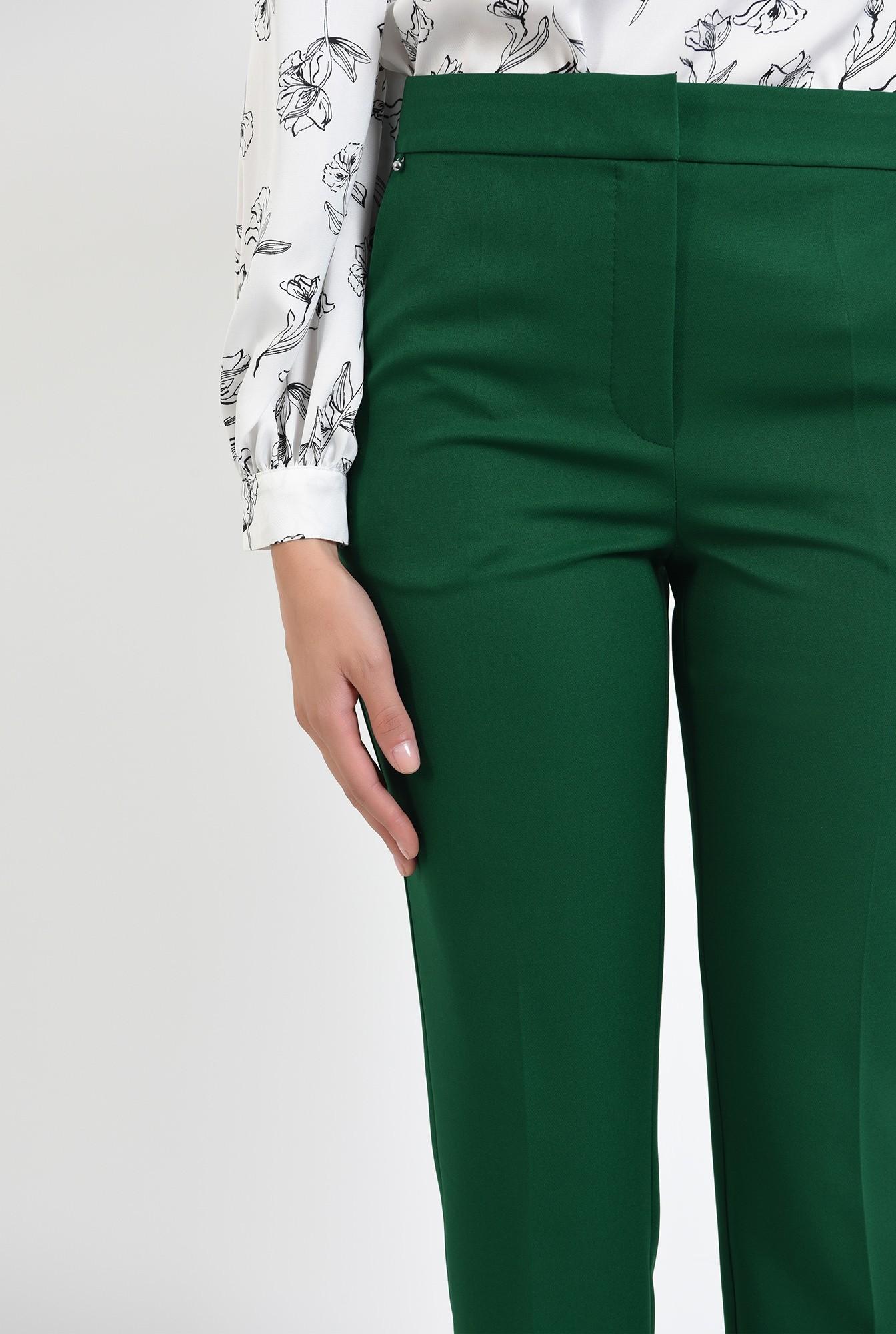 2 - pantaloni cu talie medie, croi conic, casual