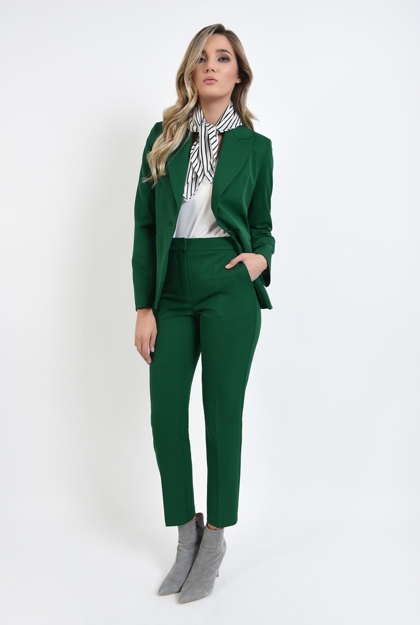 0 - pantaloni cu talie medie, croi conic, casual