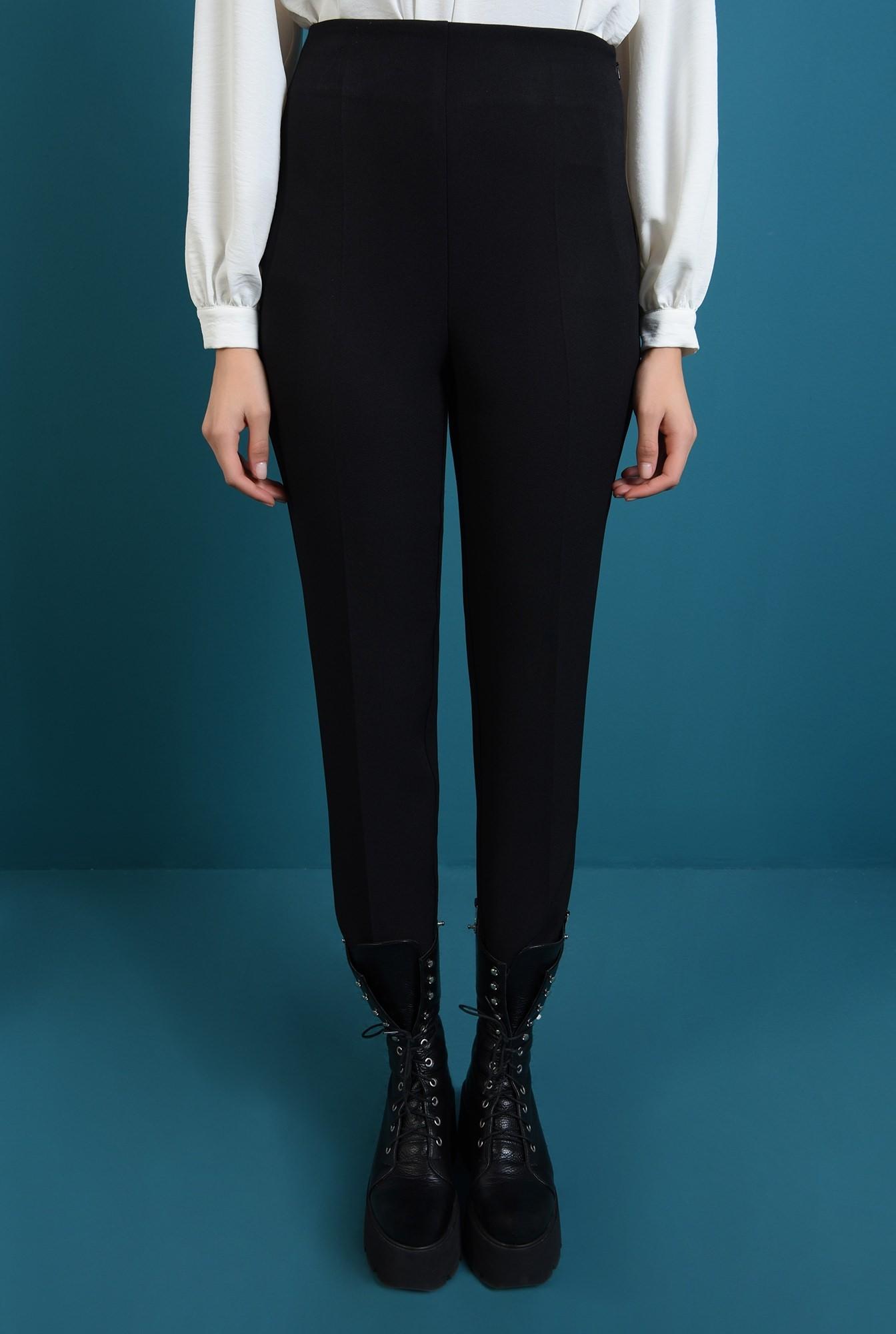 2 - pantaloni negri, conici, cu talie inalta, Poema