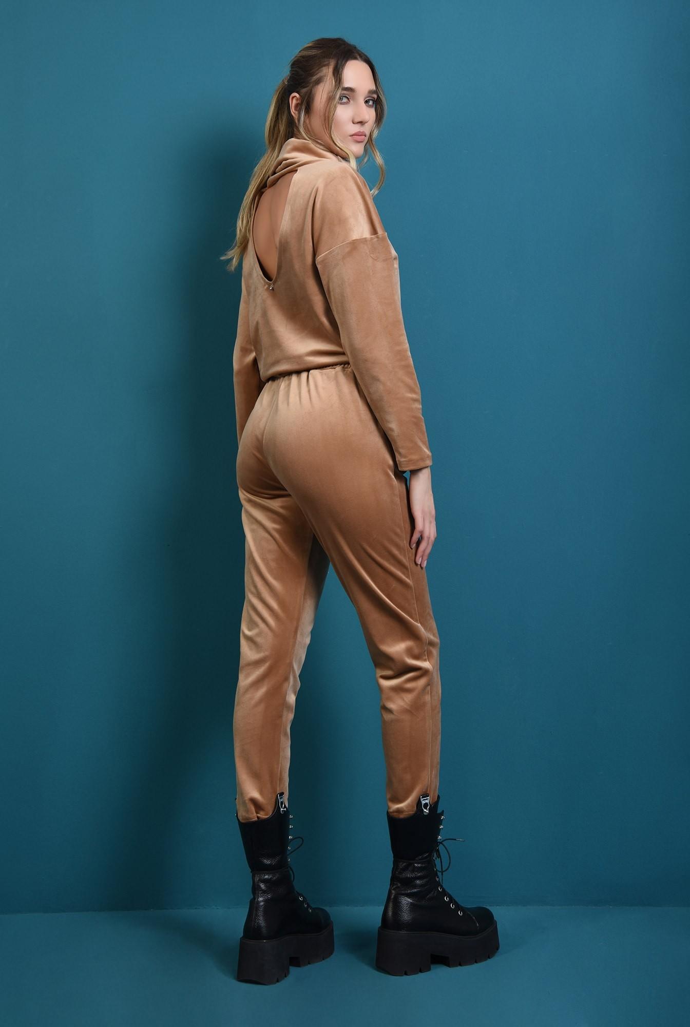 1 - pantaloni conici, casual, din catifea